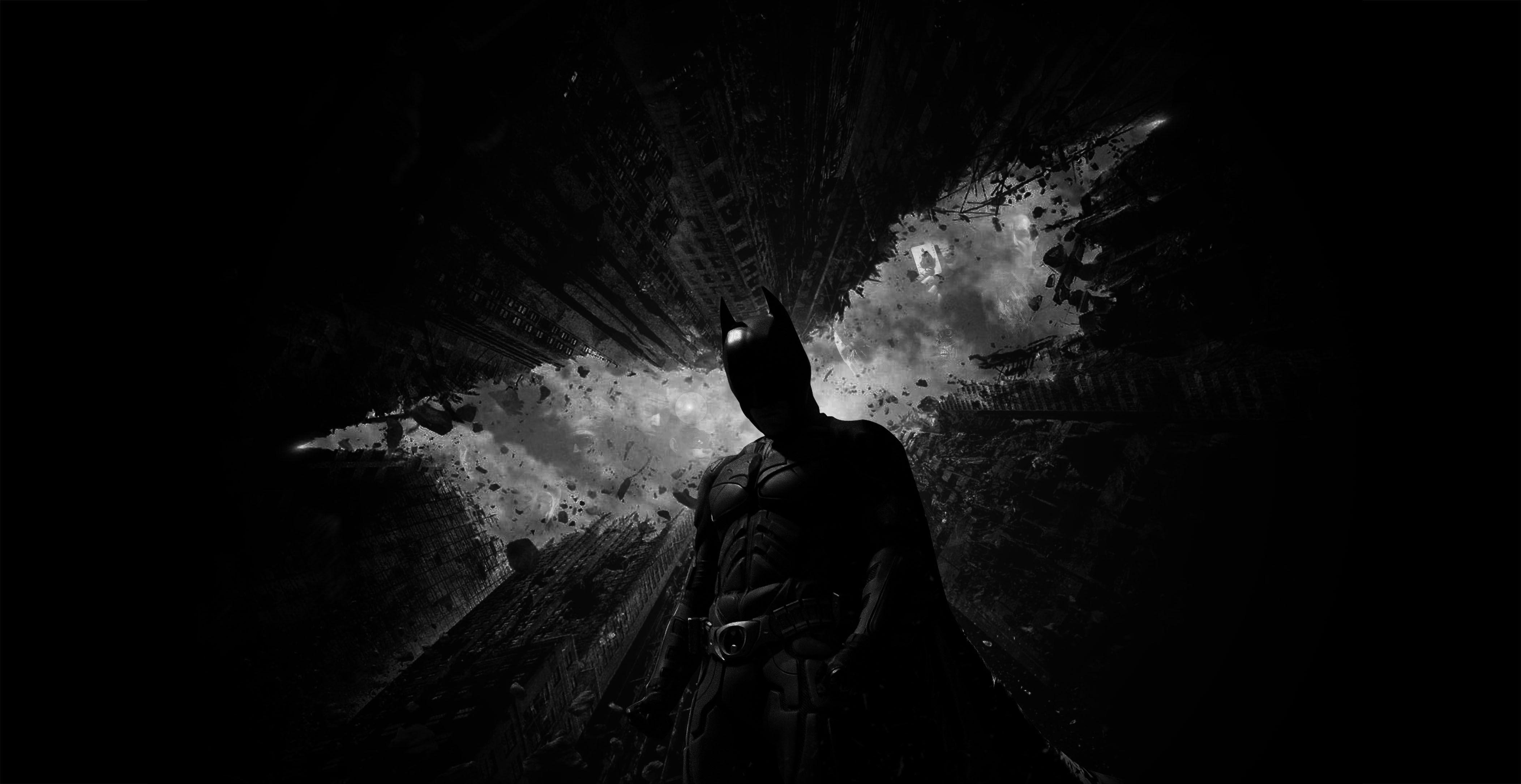 People 4208x2170 The Dark Knight Rises Batman dark Christian Bale