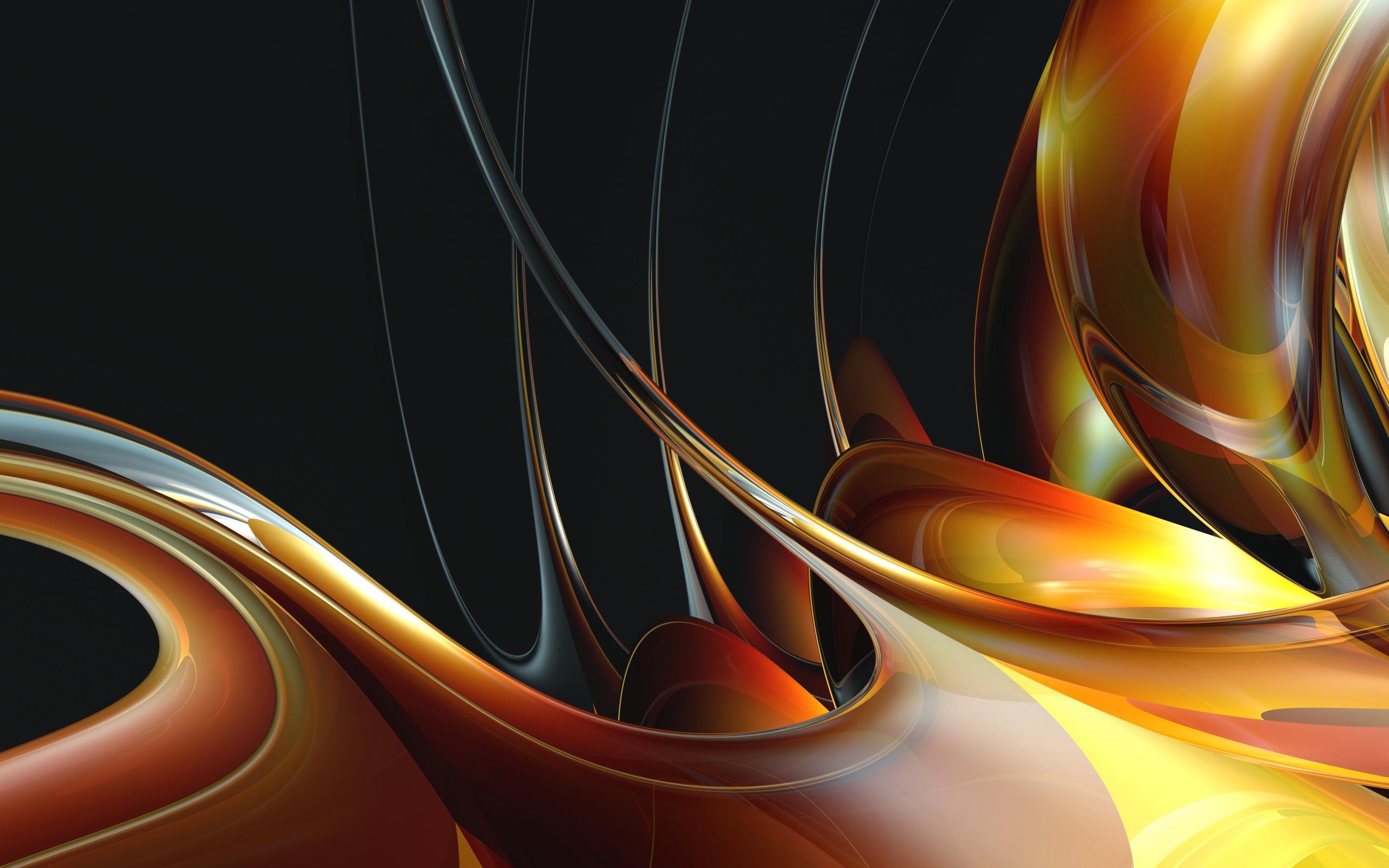 General 2560x1600 digital art abstract shapes render