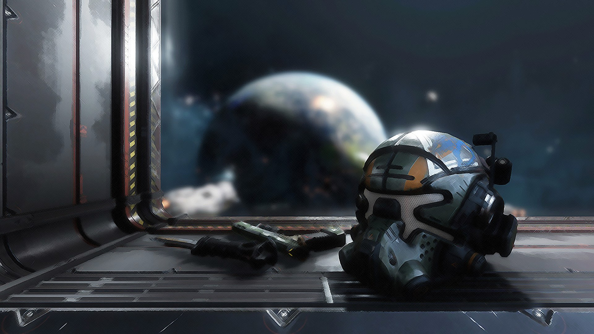 General 1920x1080 Titanfall 2 EA  Respawn Entertainment Titanfall Electronic Arts video games video game art gun helmet PC gaming
