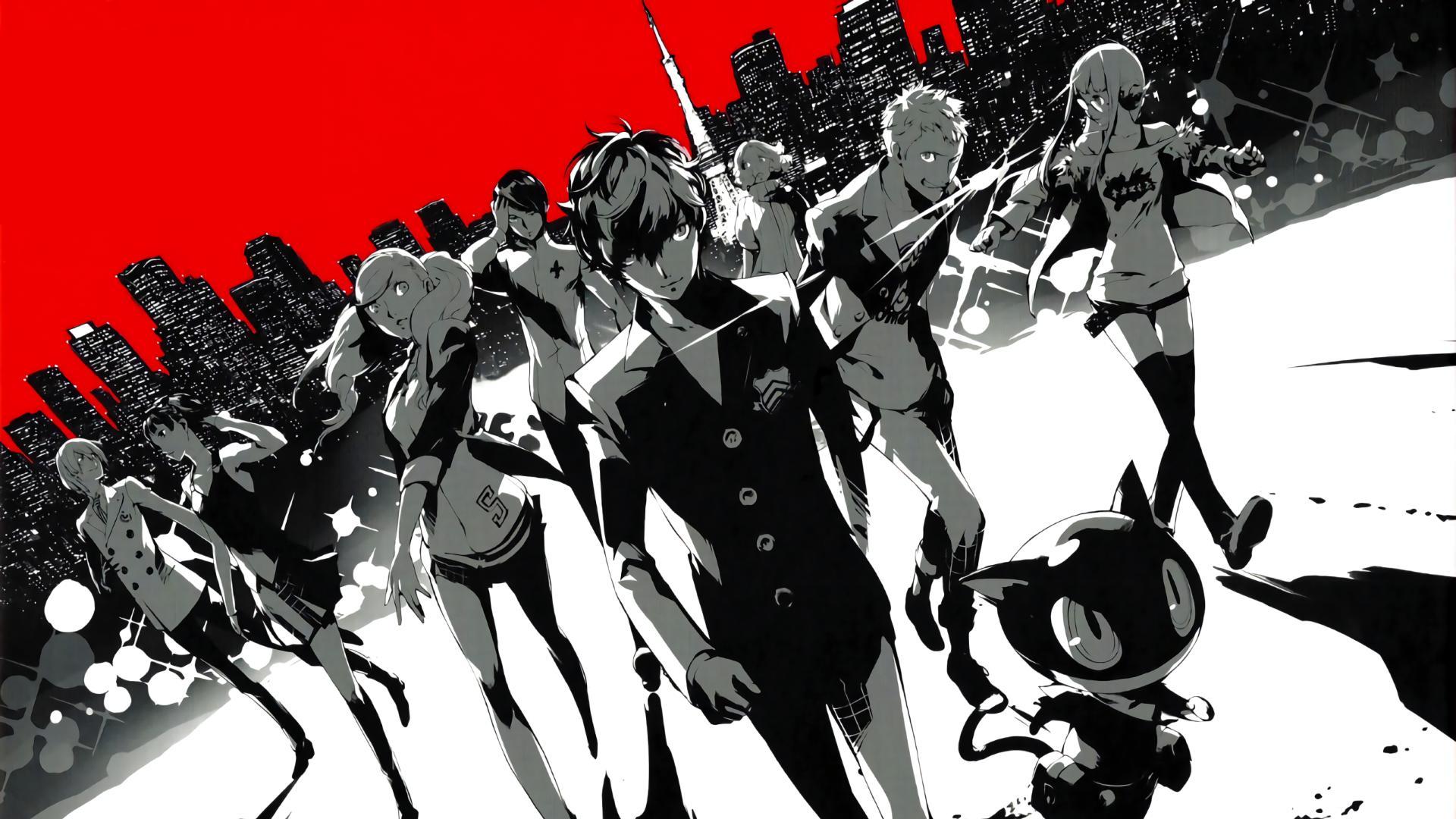 Anime 1920x1080 Phantom Thieves Persona series Persona 5 Protagonist (Persona 5) Sakura Futaba Ryuji Sakamoto Makoto Niijima Ann Takamaki  Morgana Yusuke Kitagawa Goro Akechi