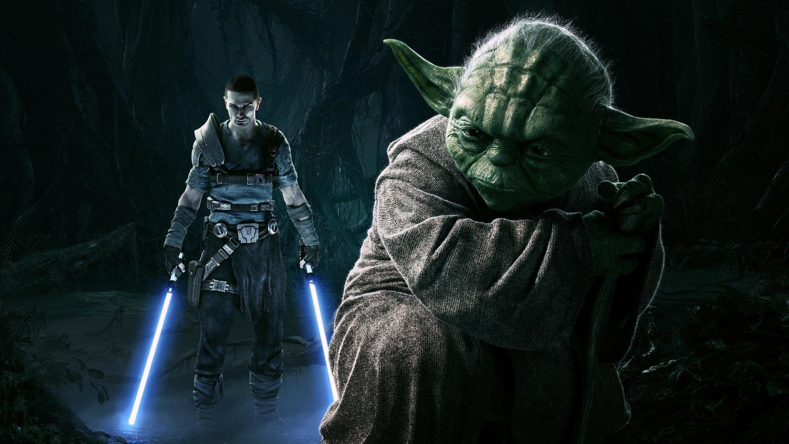 General 2560x1440 Star Wars Star Wars: The Force Unleashed starkiller Yoda Galen Marek