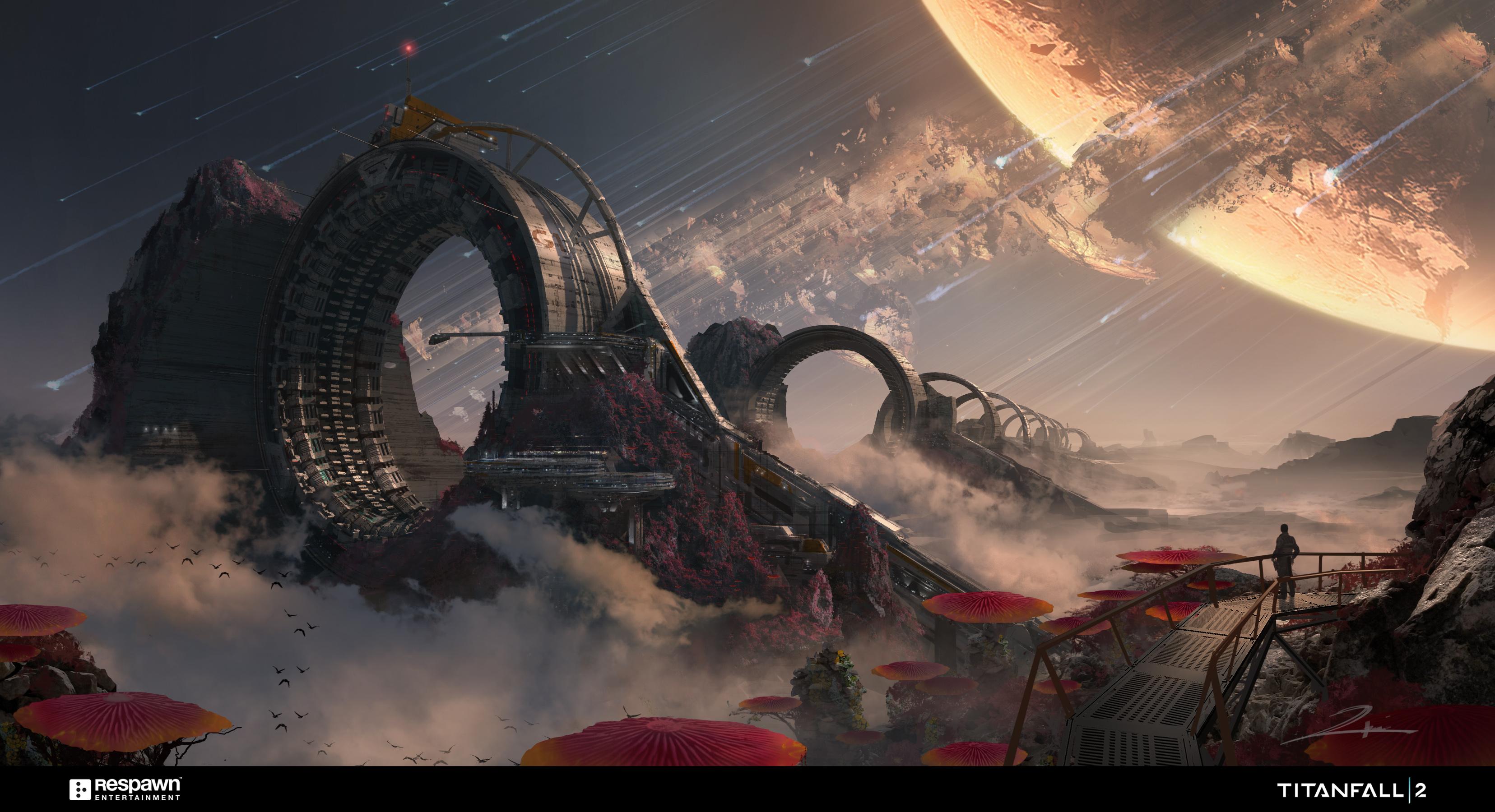 General 3312x1800 video games Titanfall 2 artwork fantasy art science fiction Titanfall futuristic mech