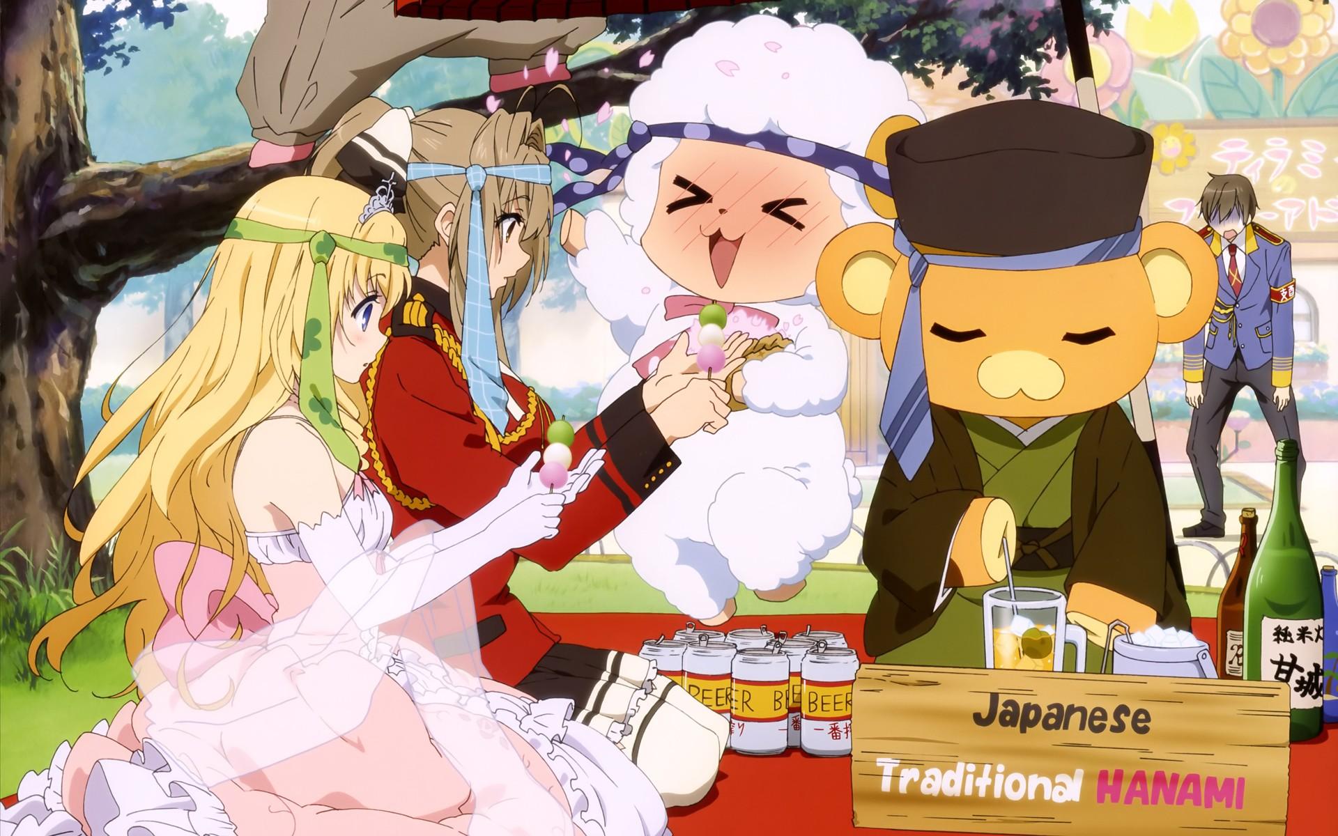 Anime 1920x1200 Amagi Brilliant Park Sento Isuzu Kanie Seiya Fleuranza Latifa Moffle (Amagi Brilliant Park) Macaron (Amagi Brilliant Park)