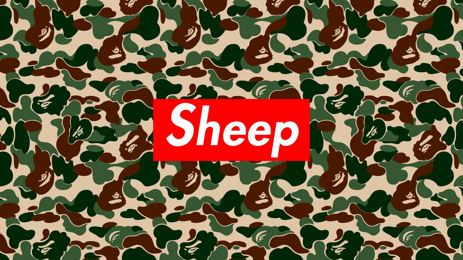 General 1920x1080 sheep humor red pattern
