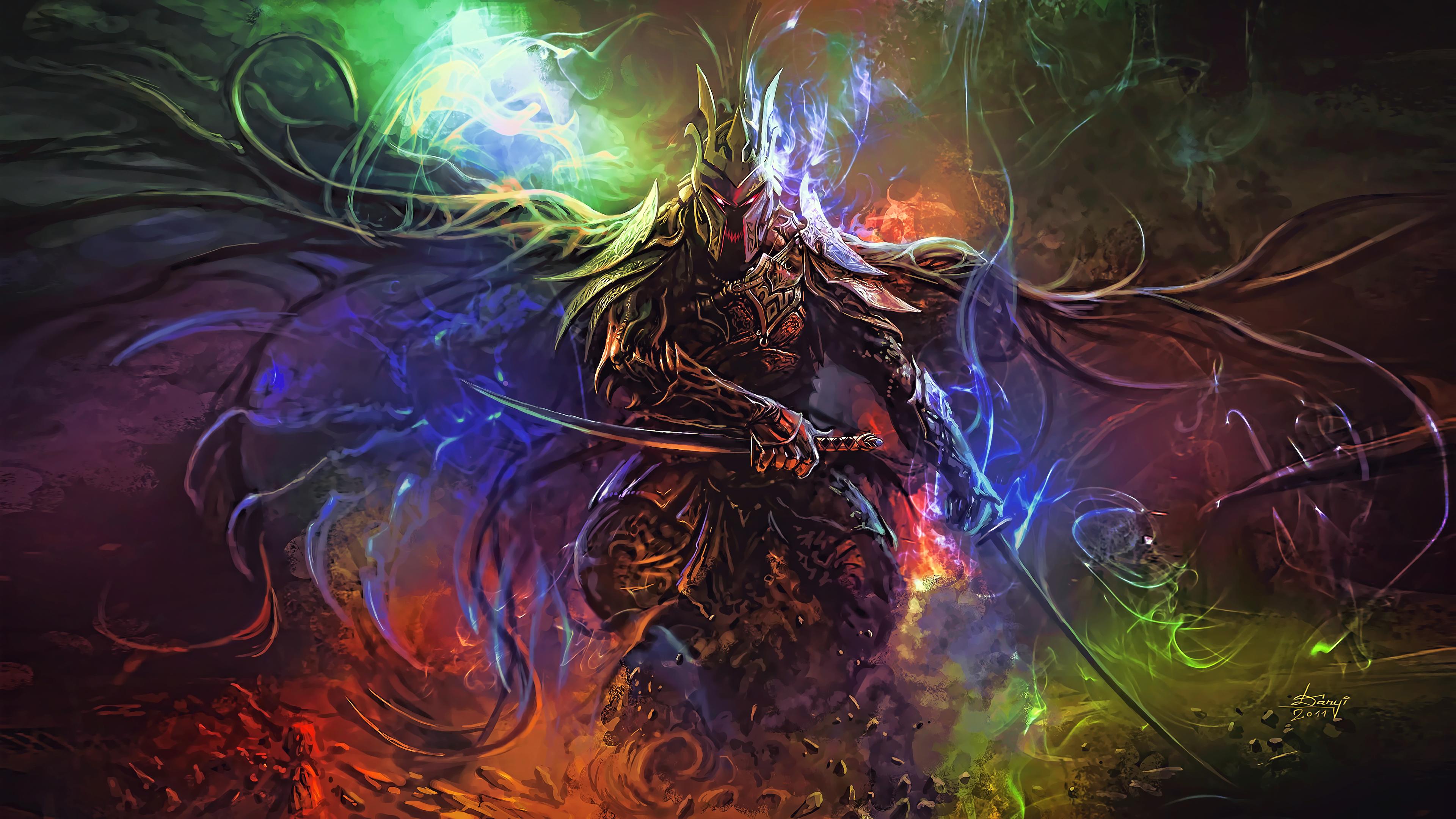 Anime 3840x2160 fantasy art fan art artwork digital art sword warrior