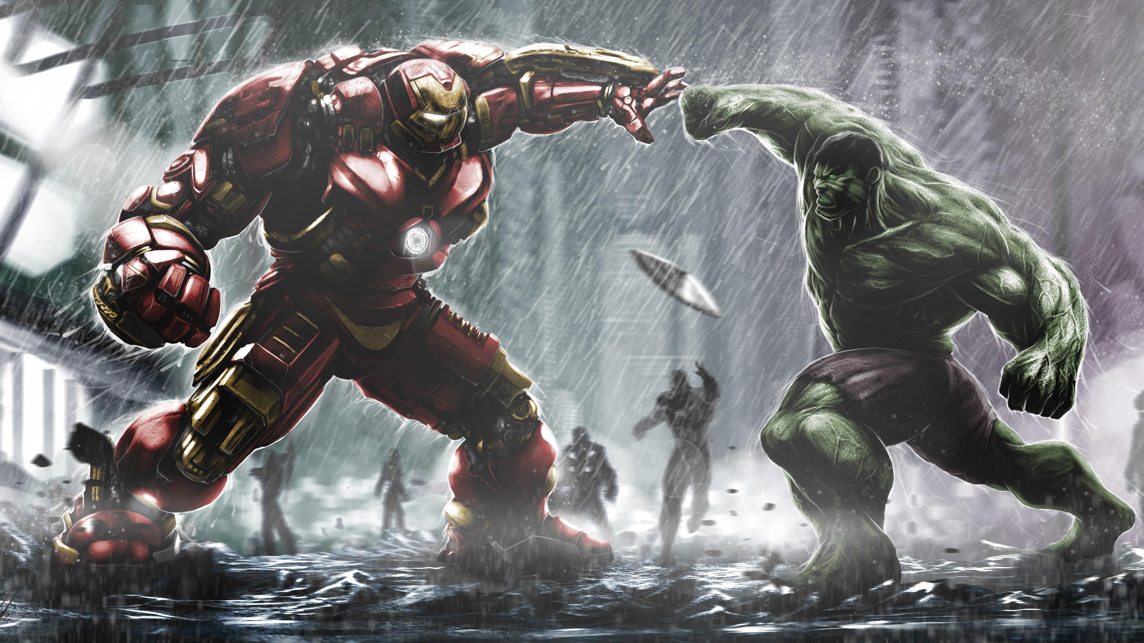 General 3840x2160 Hulk Hulkbuster Marvel Comics
