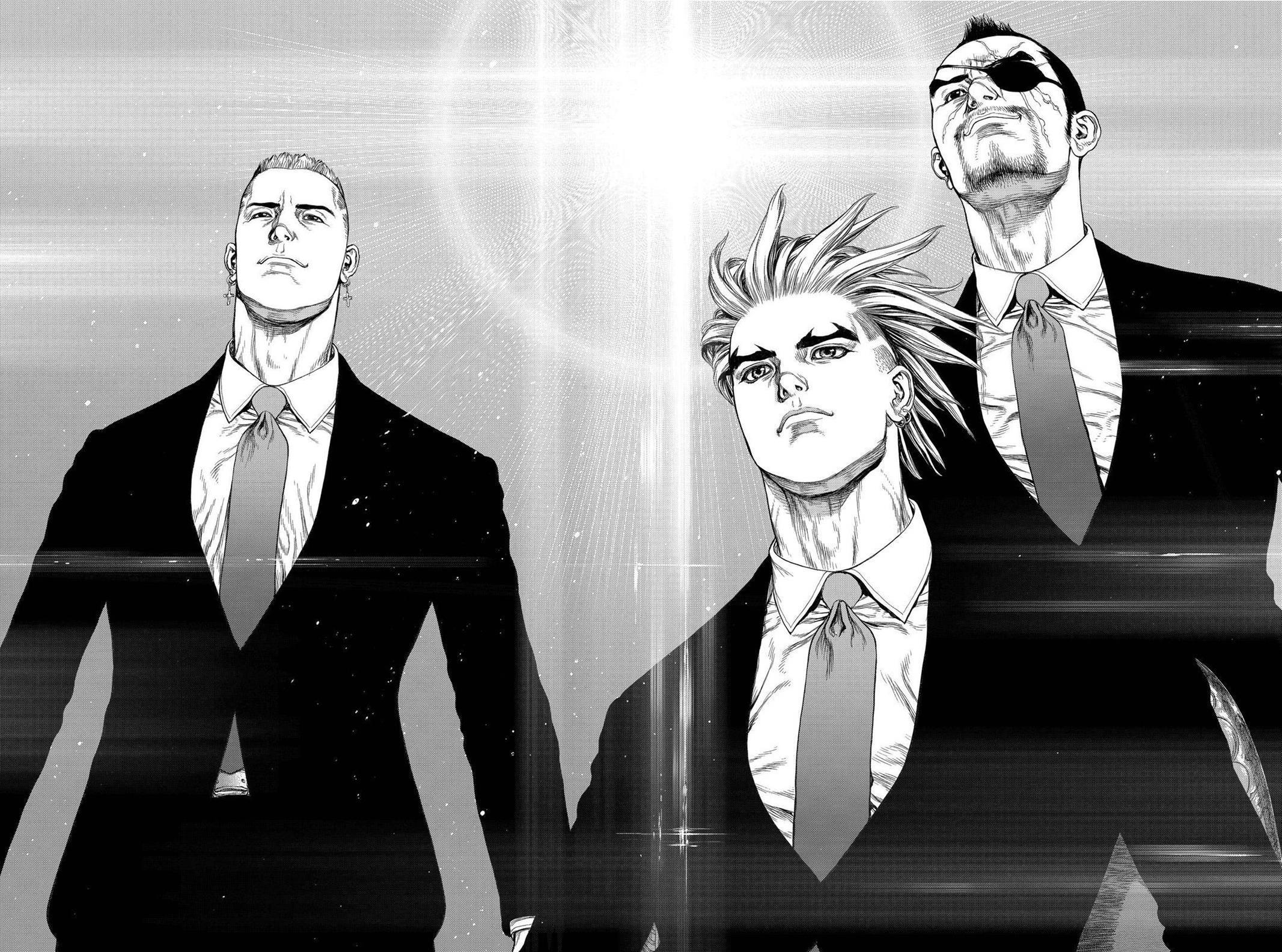 Anime 2133x1584 Sun Ken Rock manga anime boys anime men monochrome
