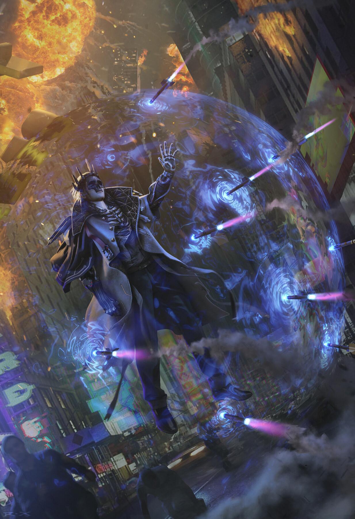 General 1234x1800 cyberpunk ArtStation digital art artwork Cyberpunk 2077 fan art The Witcher 3: Wild Hunt