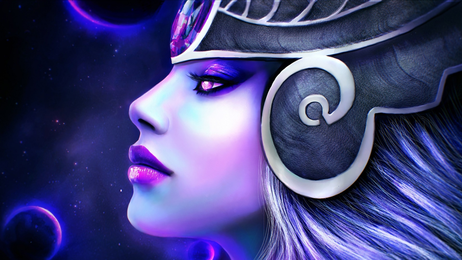 General 1920x1080 face fantasy art fantasy girl Syndra League of Legends
