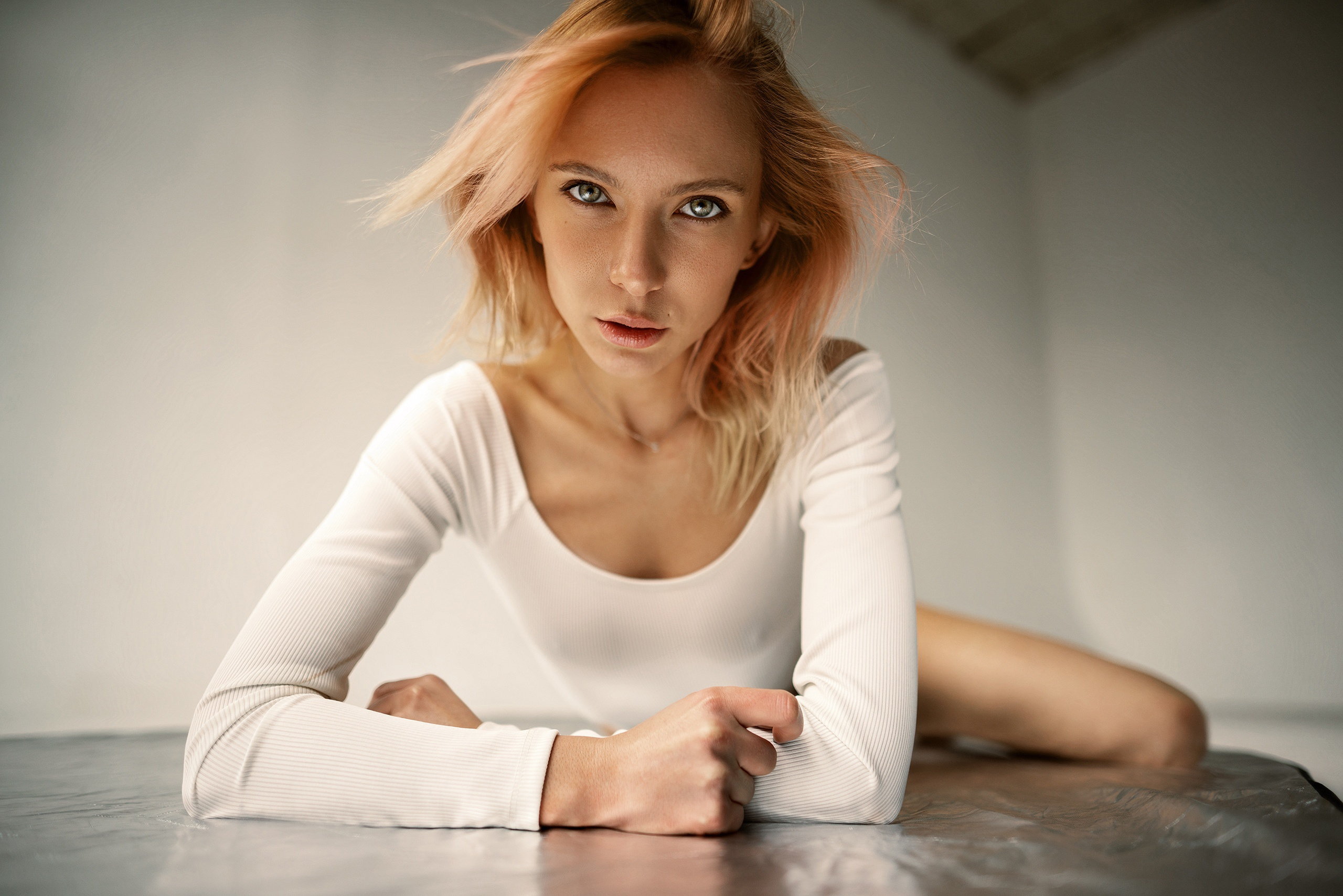 People 2560x1708 women model women indoors face Maxim Gustarev