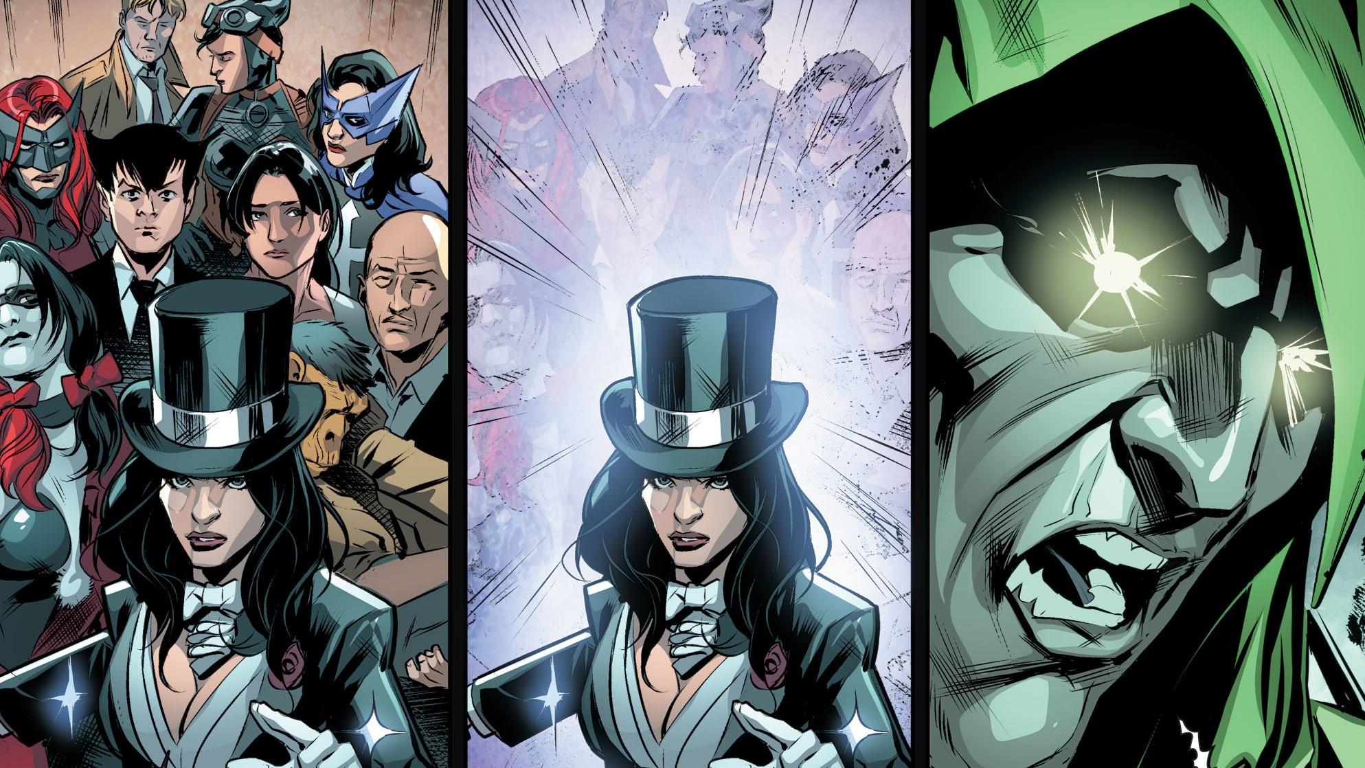 Anime 1987x1118 Injustice God's among us DC Comics DC Universe Zatanna Huntress Harley Quinn Batwoman Catwoman