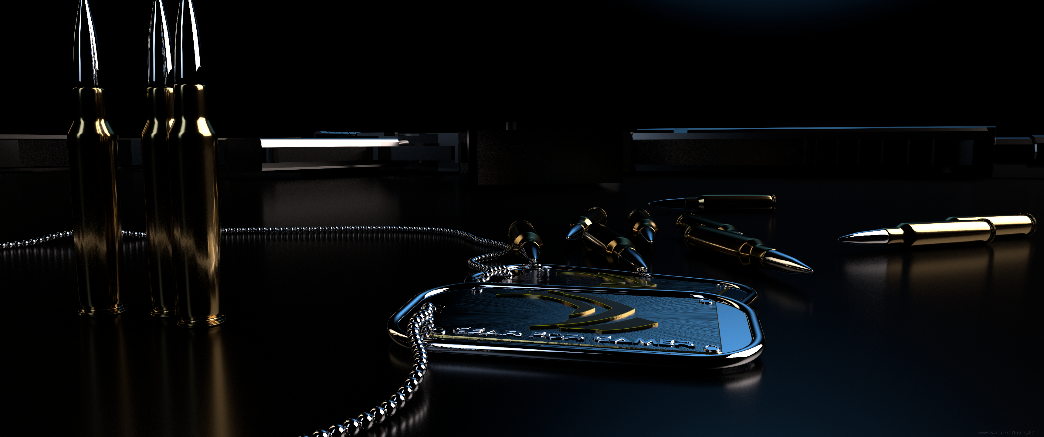 General 3440x1440 Nvidia UWQHD ammunition CGI render digital art
