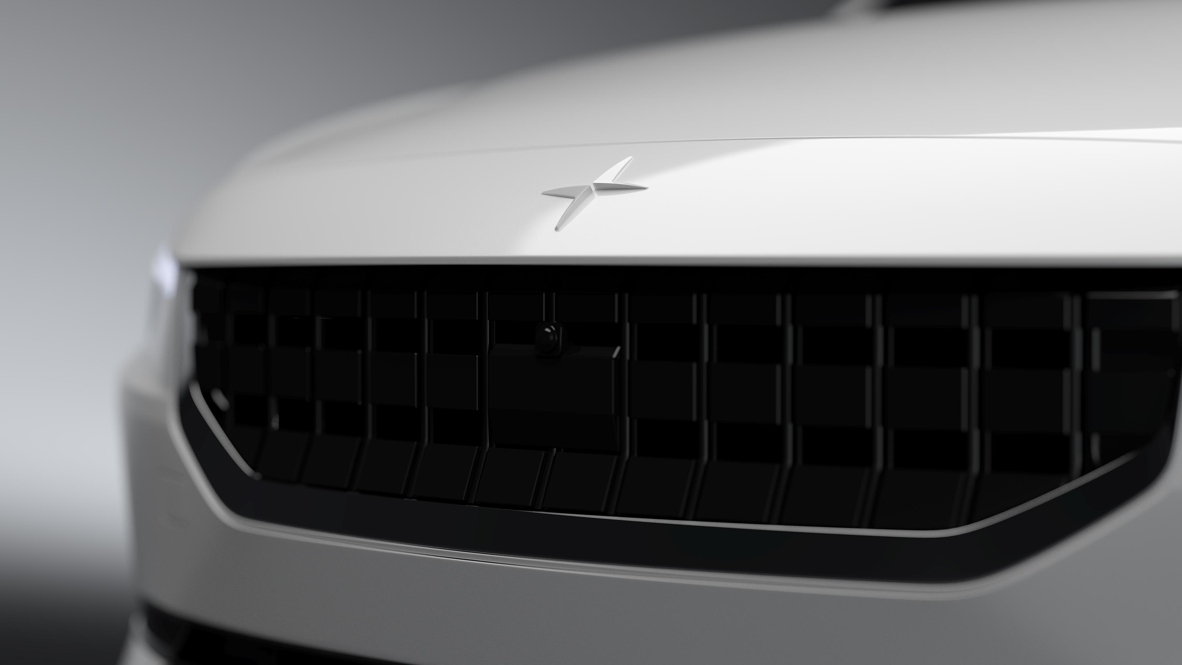 General 3840x2160 Polestar Polestar 2 Volvo 3D visualization digital art Grille render car vehicle automotive vred CGI