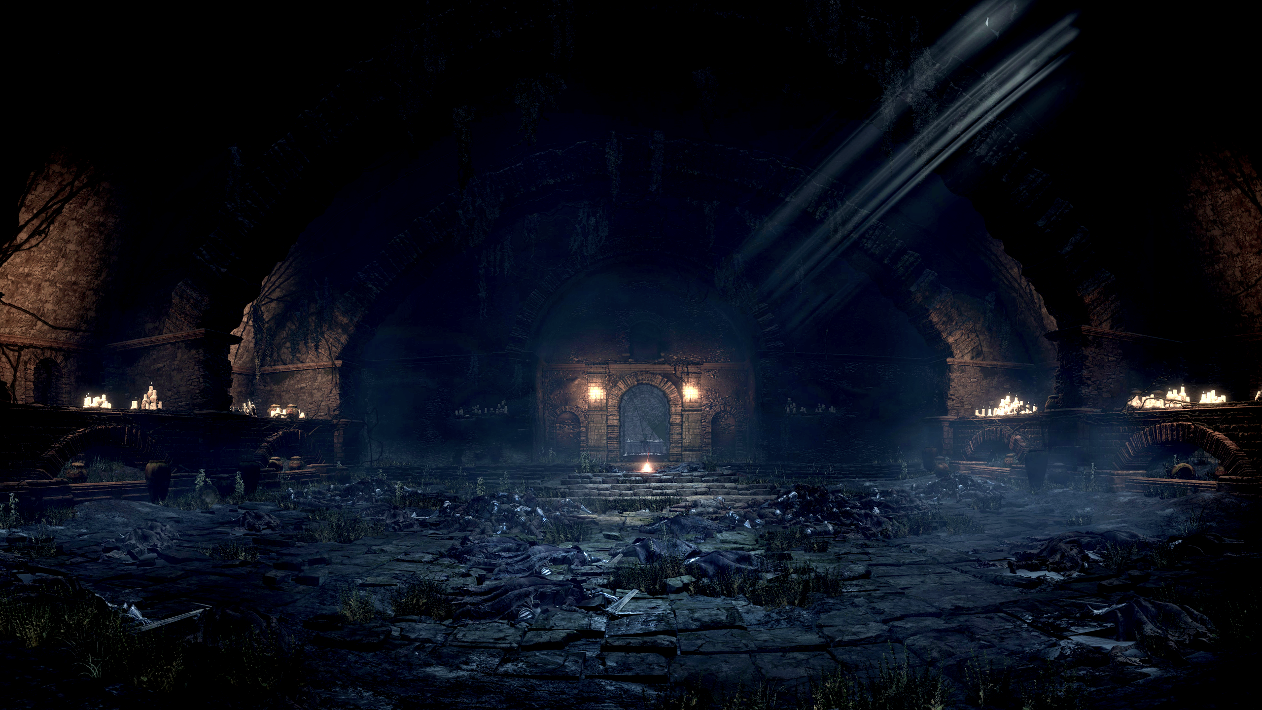 General 2560x1440 Dark Souls III video games Abyss Watchers Undead Legion screen shot