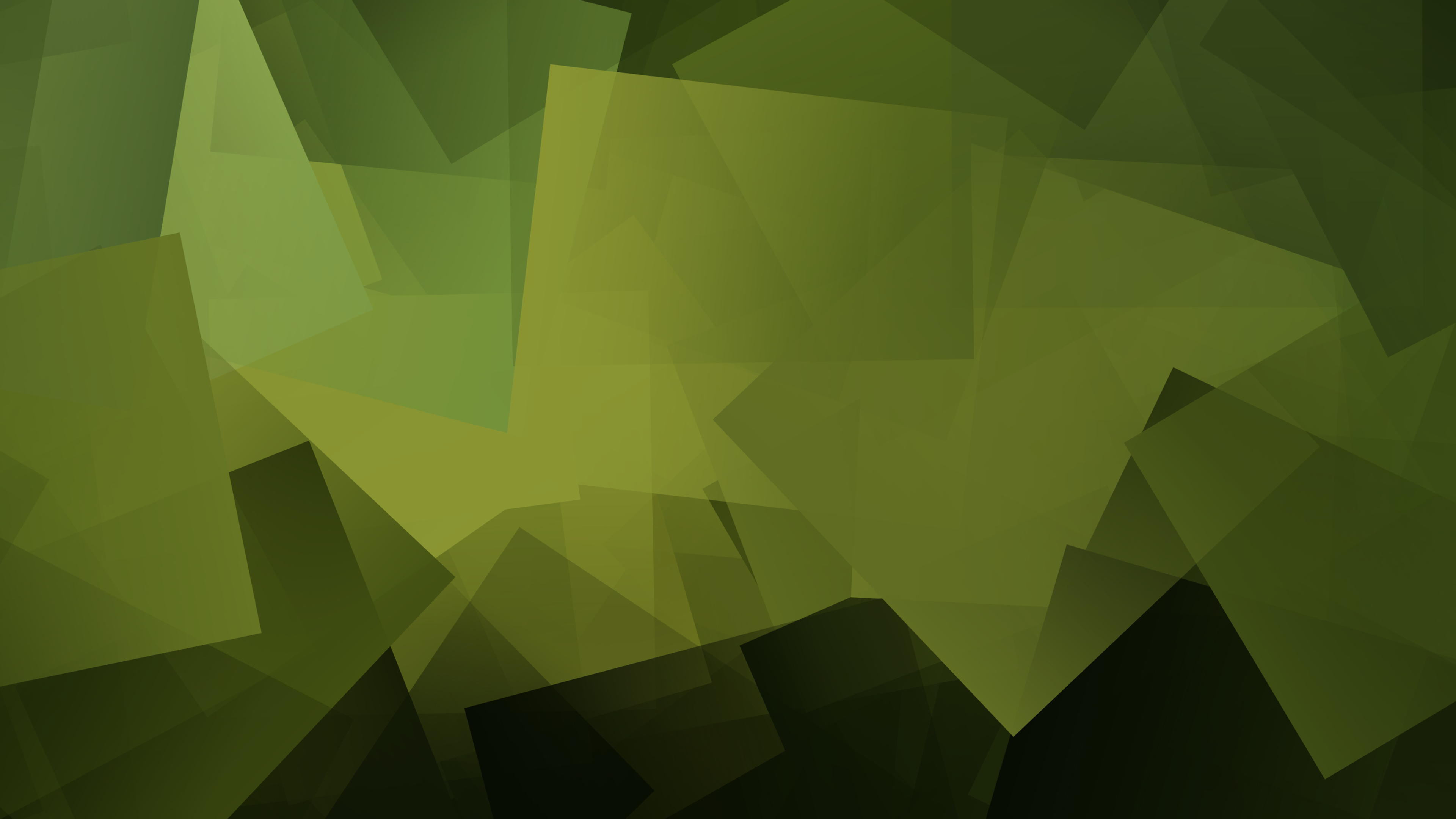 General 3840x2160 rave Linux cube square geometry gradient green