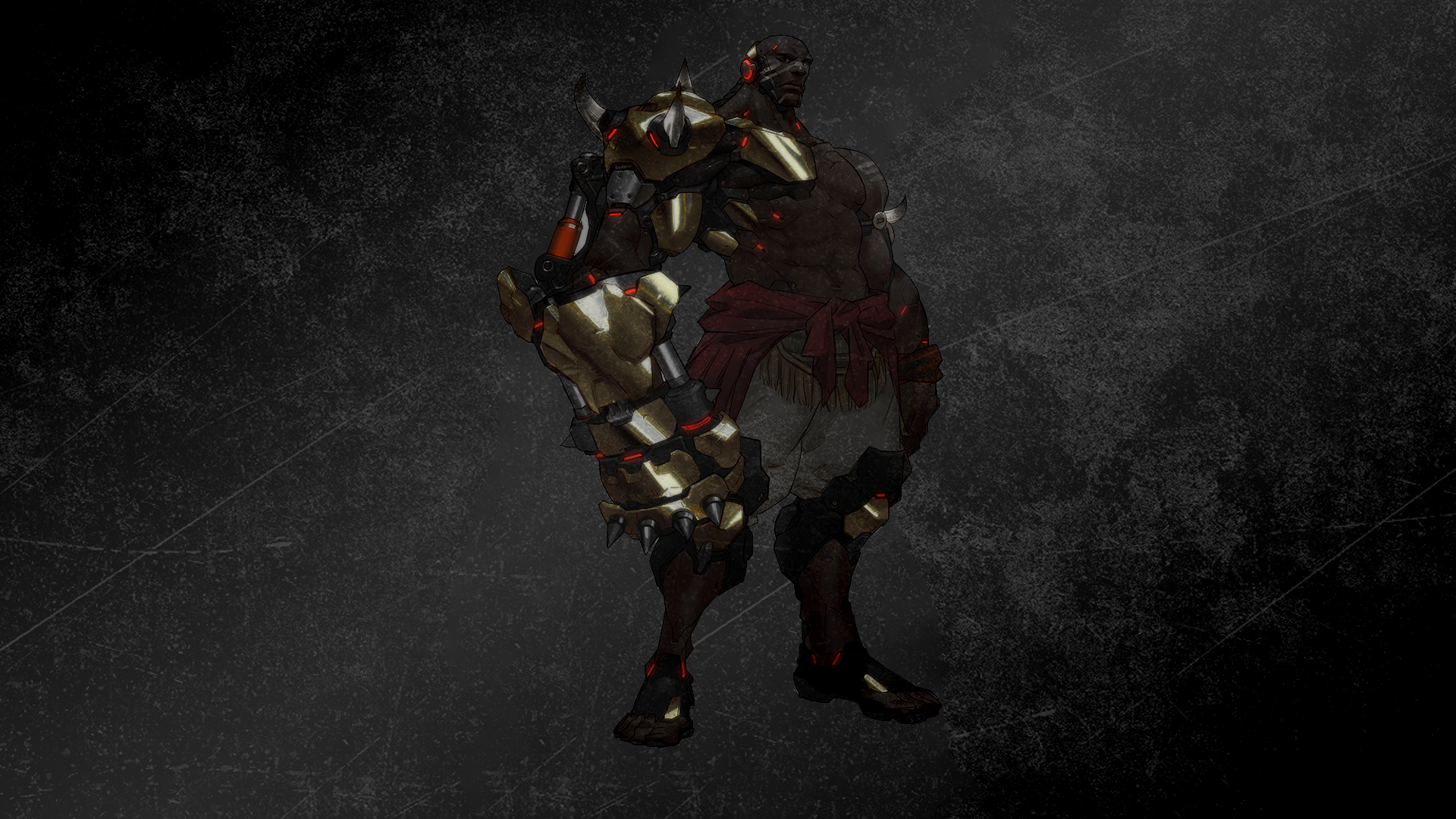 General 1920x1080 Overwatch Doomfist (Overwatch) PC gaming dark