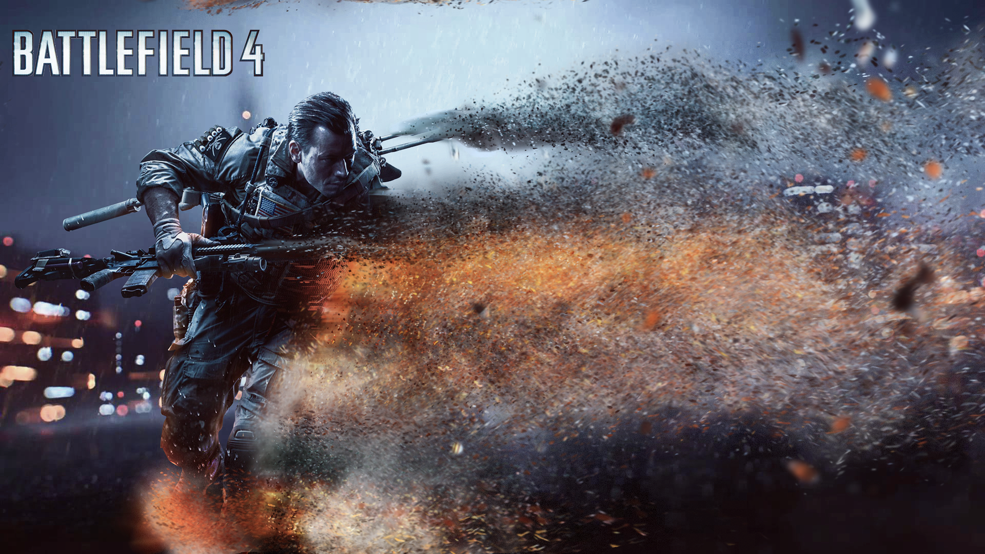 General 1920x1080 battle Battlefield Battlefield 4 Battlefield Hardline Battlefield 3 sand effects logo text video games