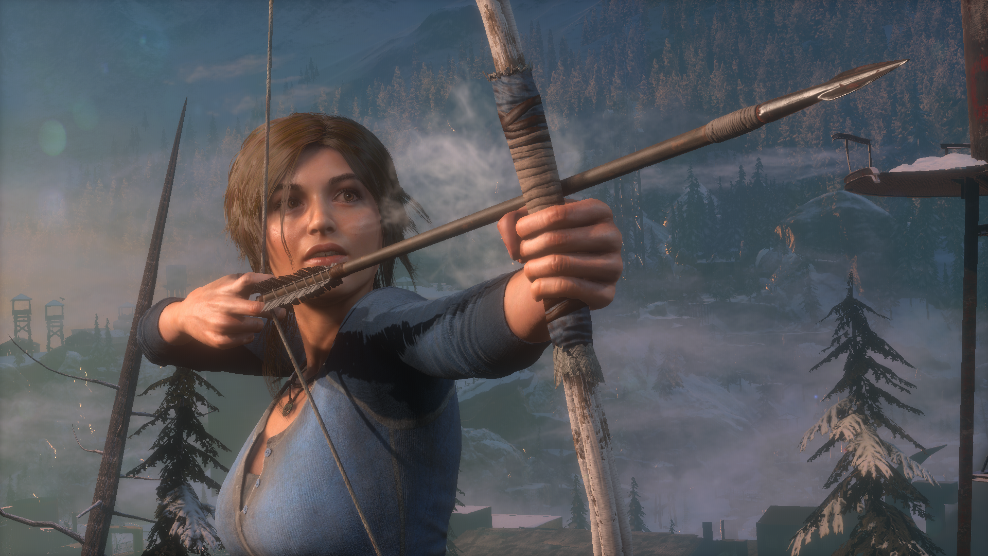 General 1920x1080 Rise of the Tomb Raider Tomb Raider video games Video Game Heroes Lara Croft bow