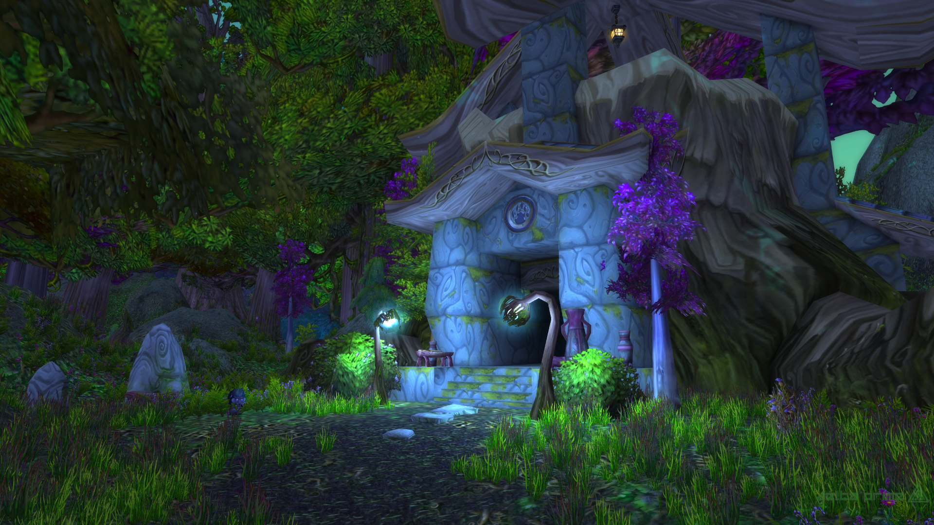 General 1920x1080 World of Warcraft Ashenvale Night Elves forest Alliance horde Druid