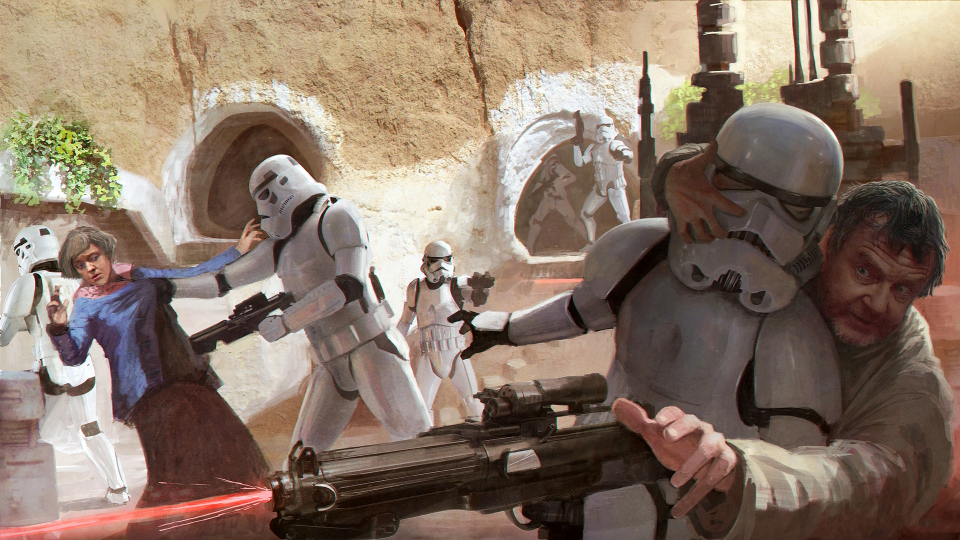 General 1920x1080 Tatooine Imperial Forces stormtrooper Storm Troopers Star Wars