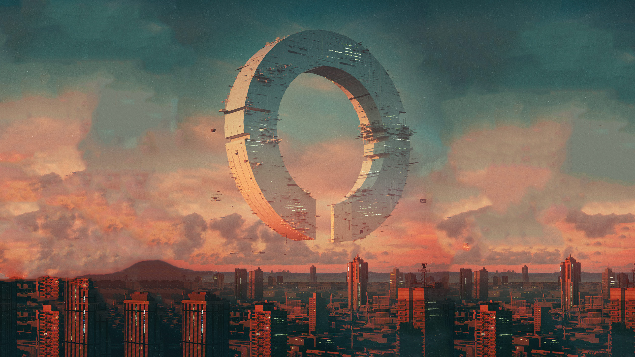General 2560x1440 beeple city futuristic fictional artwork building science fiction architecture sky
