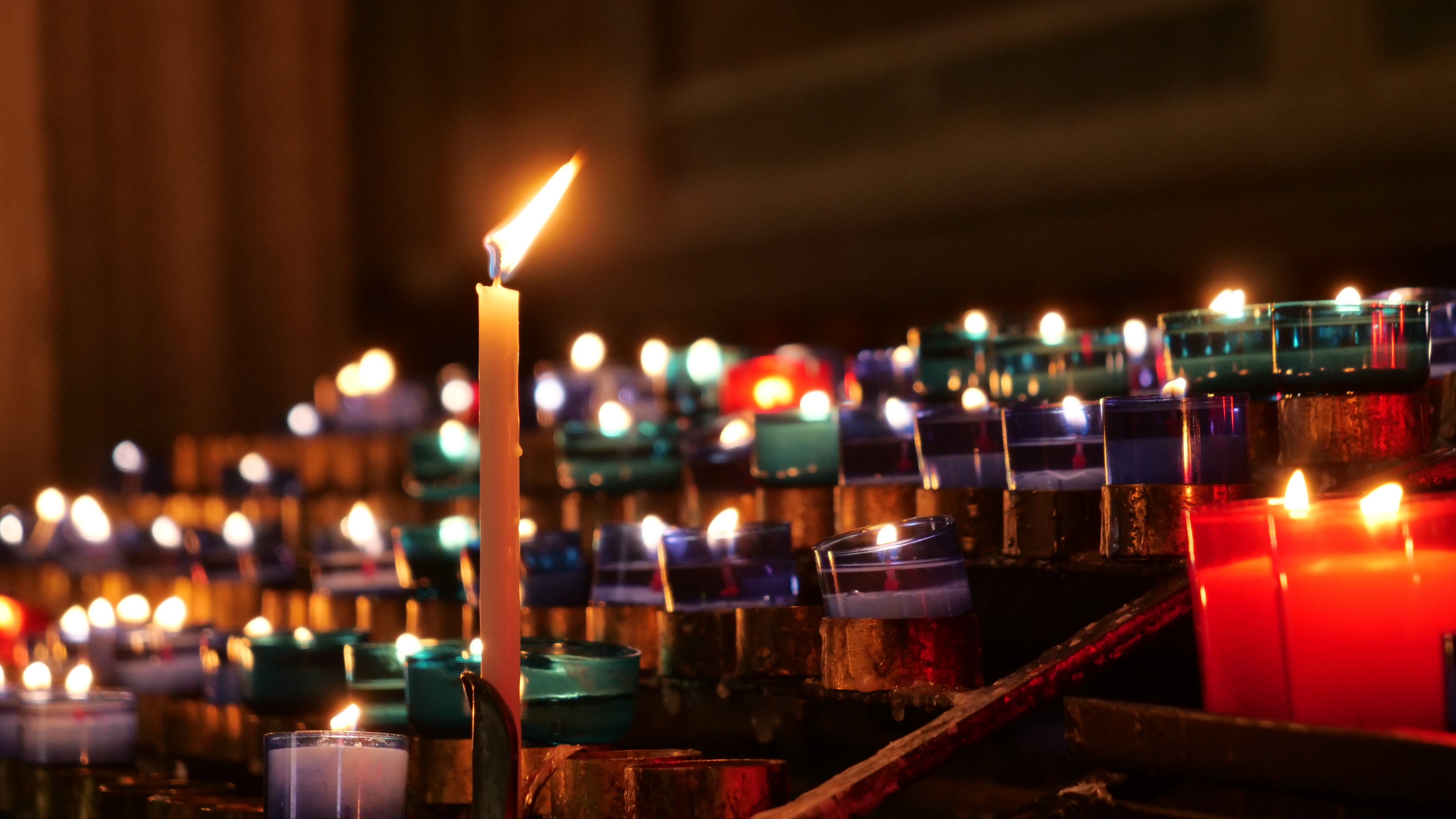 General 5084x2860 candles church lights spiritual