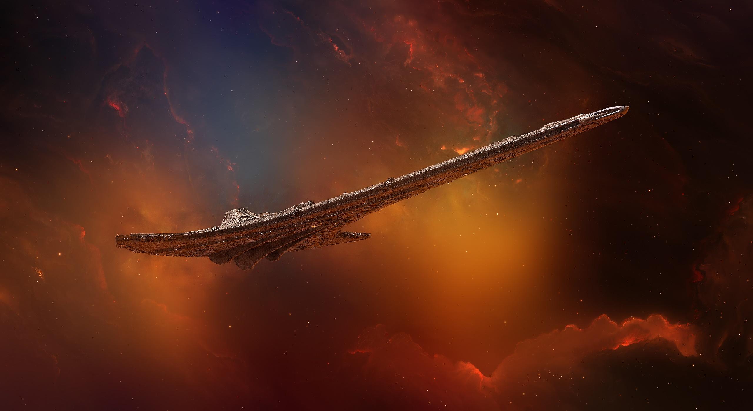 General 2560x1396 space space art science fiction artwork Stargate Universe Destiny (spaceship)