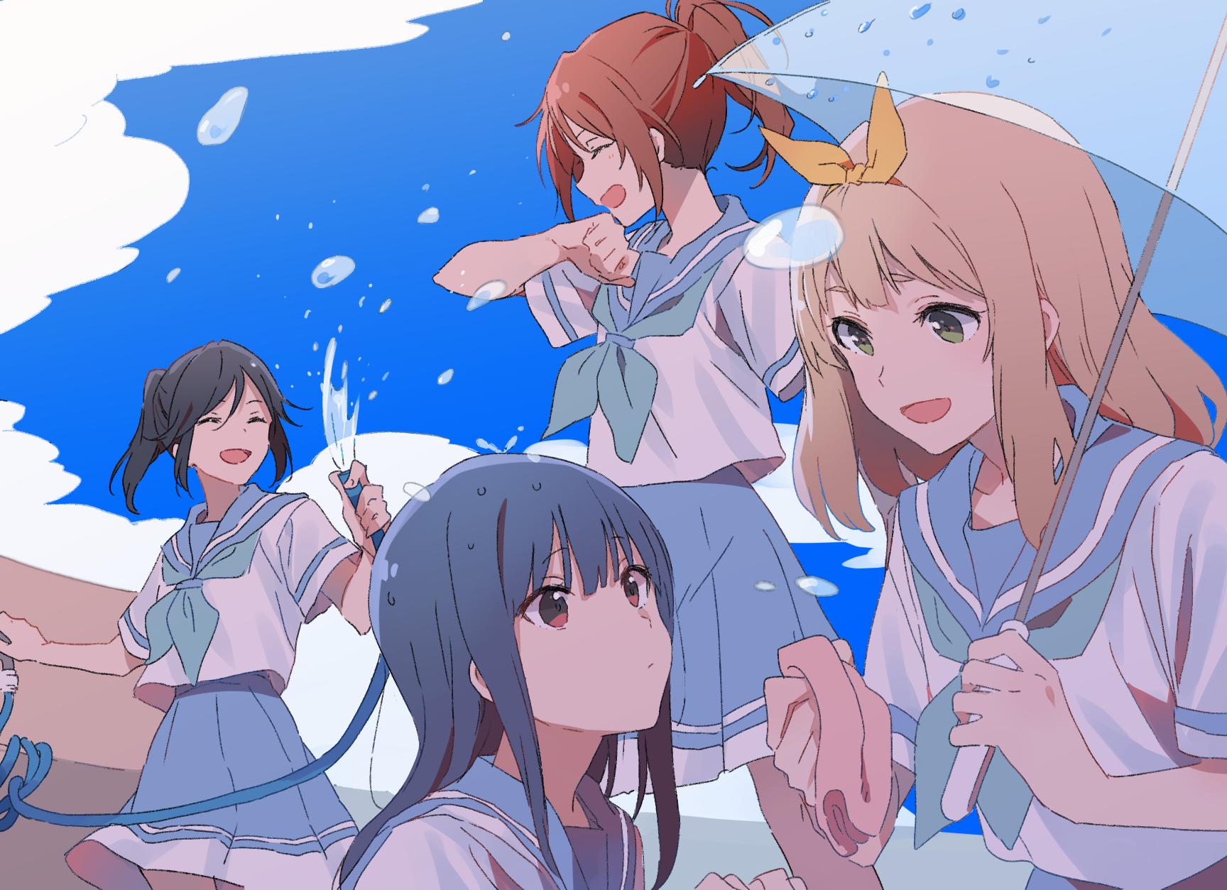 Anime 1728x1254 anime anime girls digital art artwork 2D Hibike! Euphonium Kasaki Nozomi Yoroizuka Mizore (Hibike! Euphonium) Nakagawa Natsuki Yoshikawa Yuuko