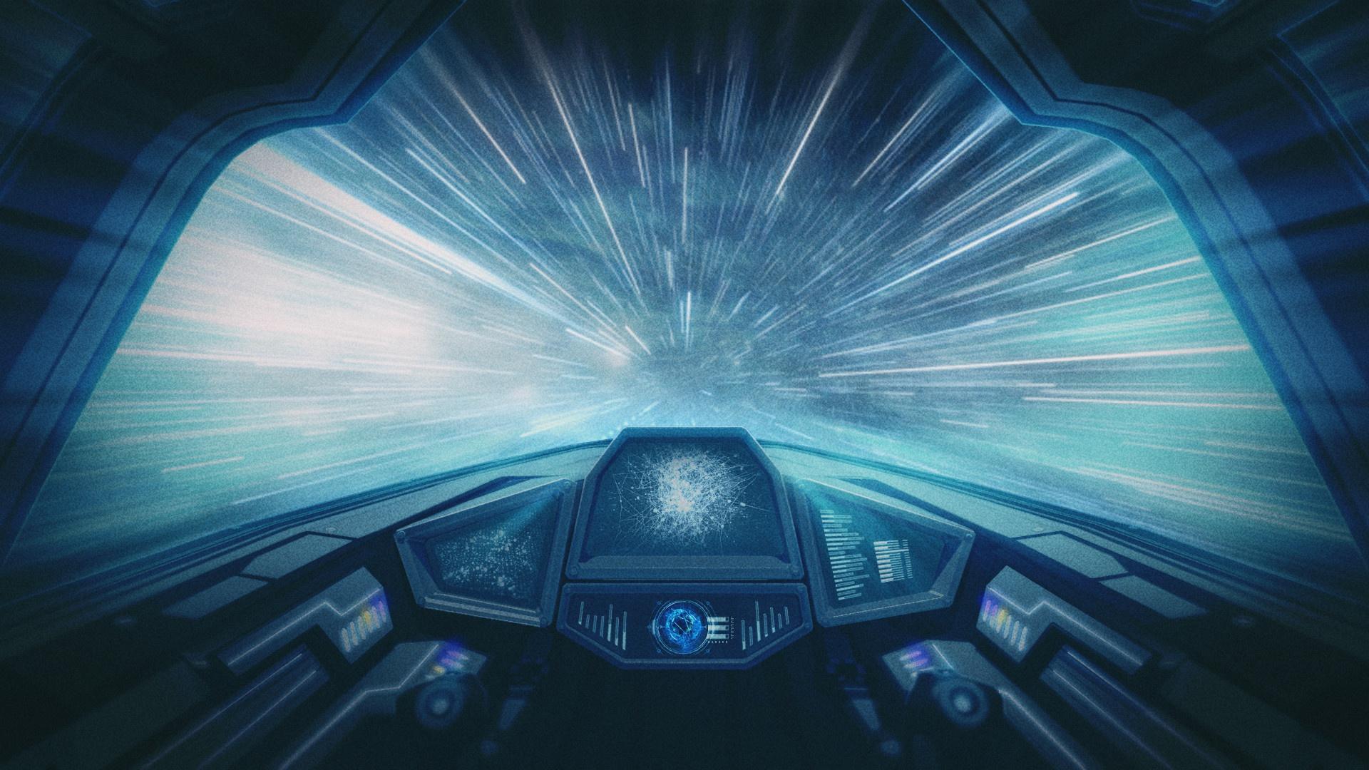 General 1920x1080 science fiction digital art space spaceship cyan