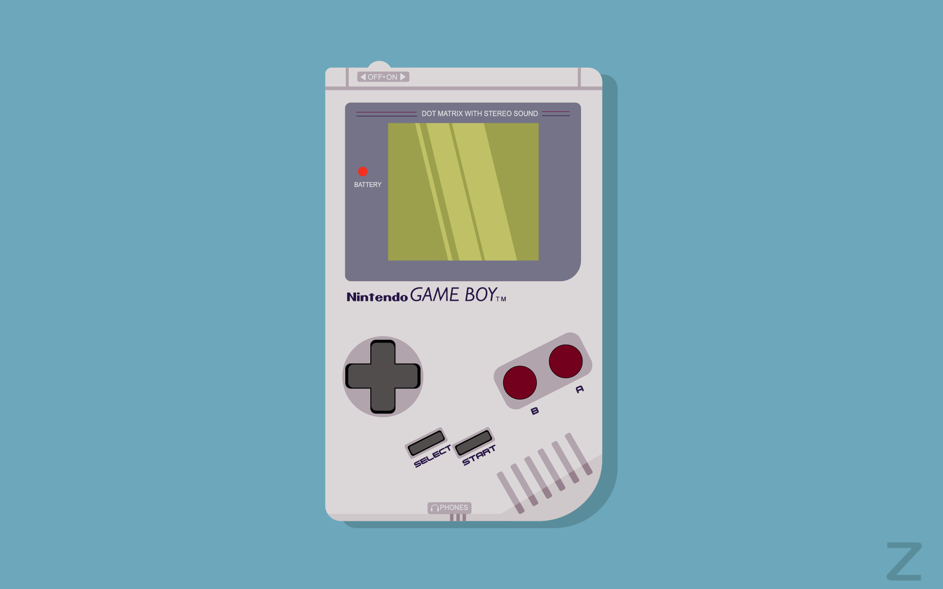 General 1920x1200 GameBoy simple background minimalism Nintendo video games vector Adobe Illustrator