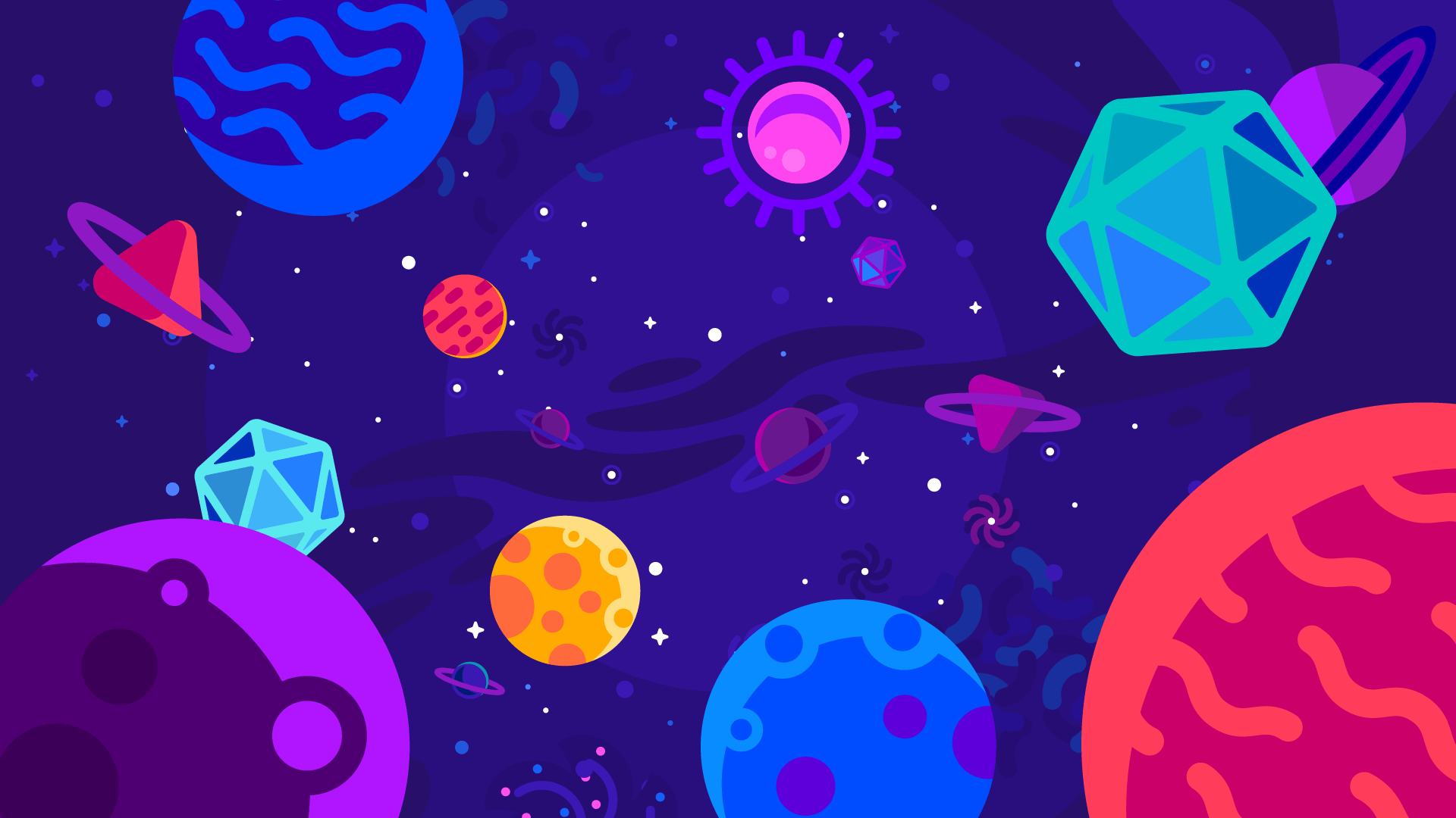 General 1920x1080 artwork stars planet space shapes