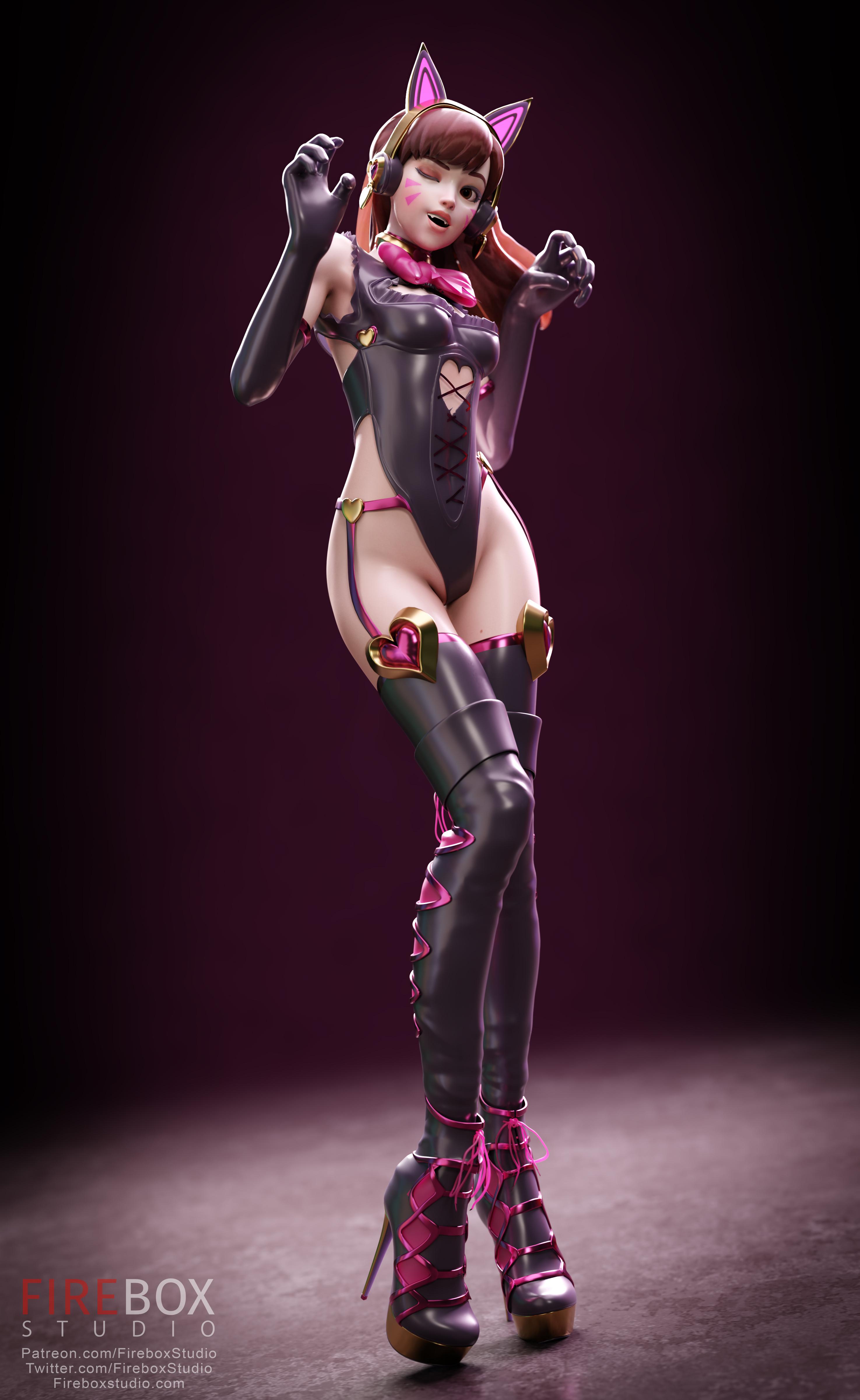 General 2950x4800 video games video game girls video game characters fantasy girl illustration artwork 3D Overwatch D.Va (Overwatch) catsuits Firebox Studio render