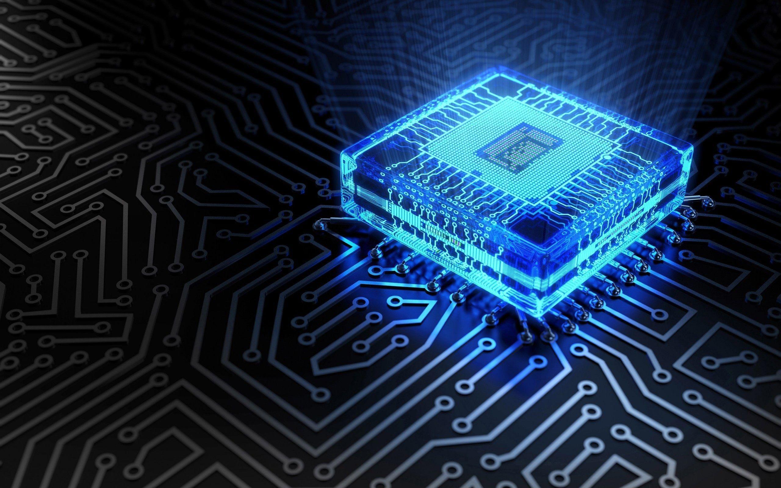 General 2560x1600 CPU tech circuit circuit boards computer technology blue cyan