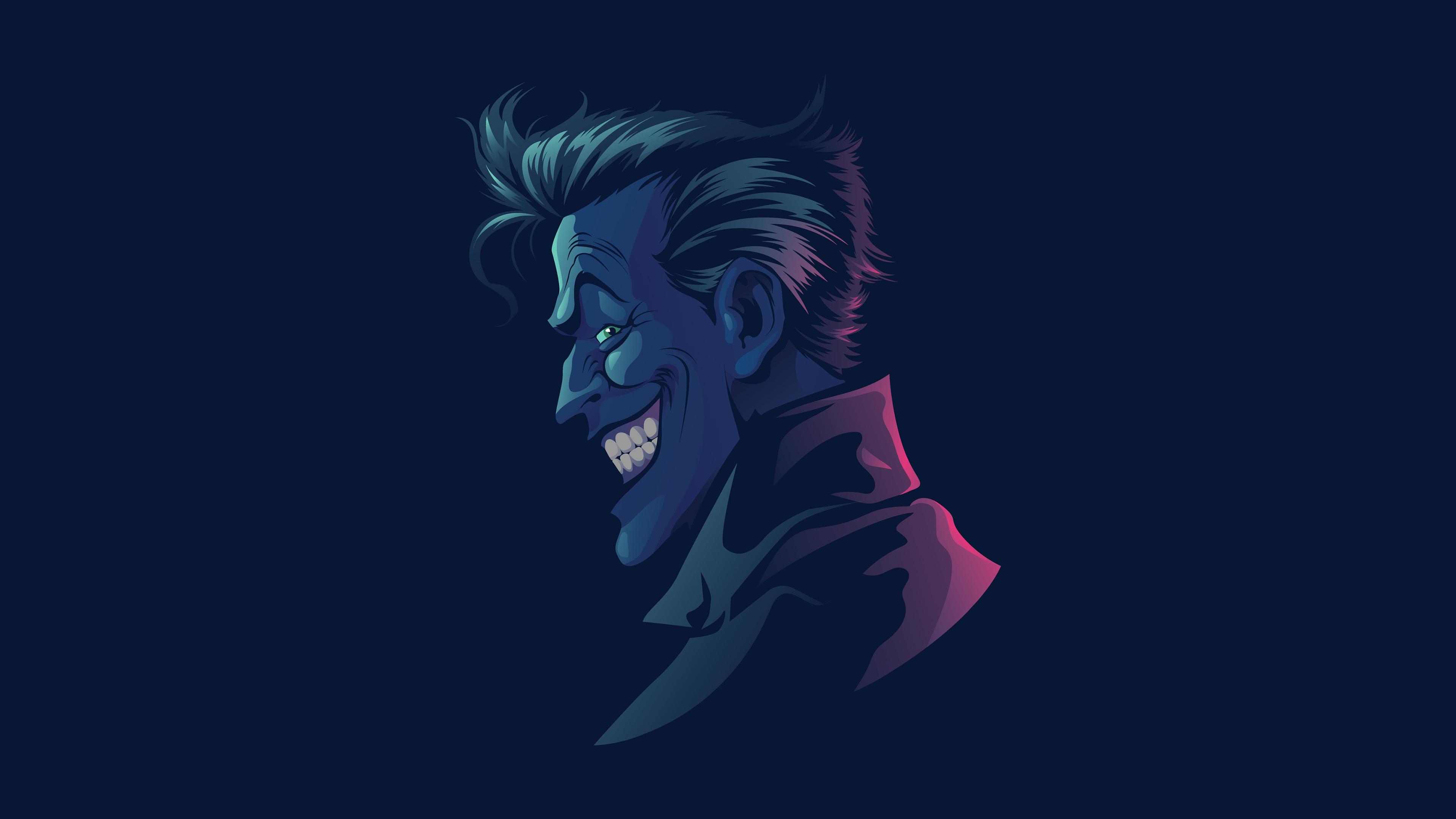 General 3840x2160 digital digital art artwork illustration character design  fictional fictional character comics DC Comics DC Universe villain villains Villains Gallery simple simple background vector art vector graphics Joker Vectto minimalism