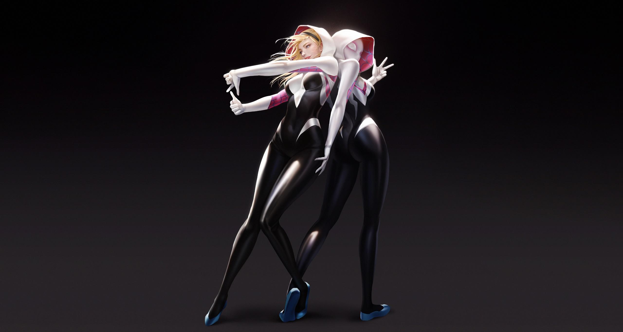 General 2560x1365 fantasy art Spider-Woman Spider Woman Gwen Stacy women