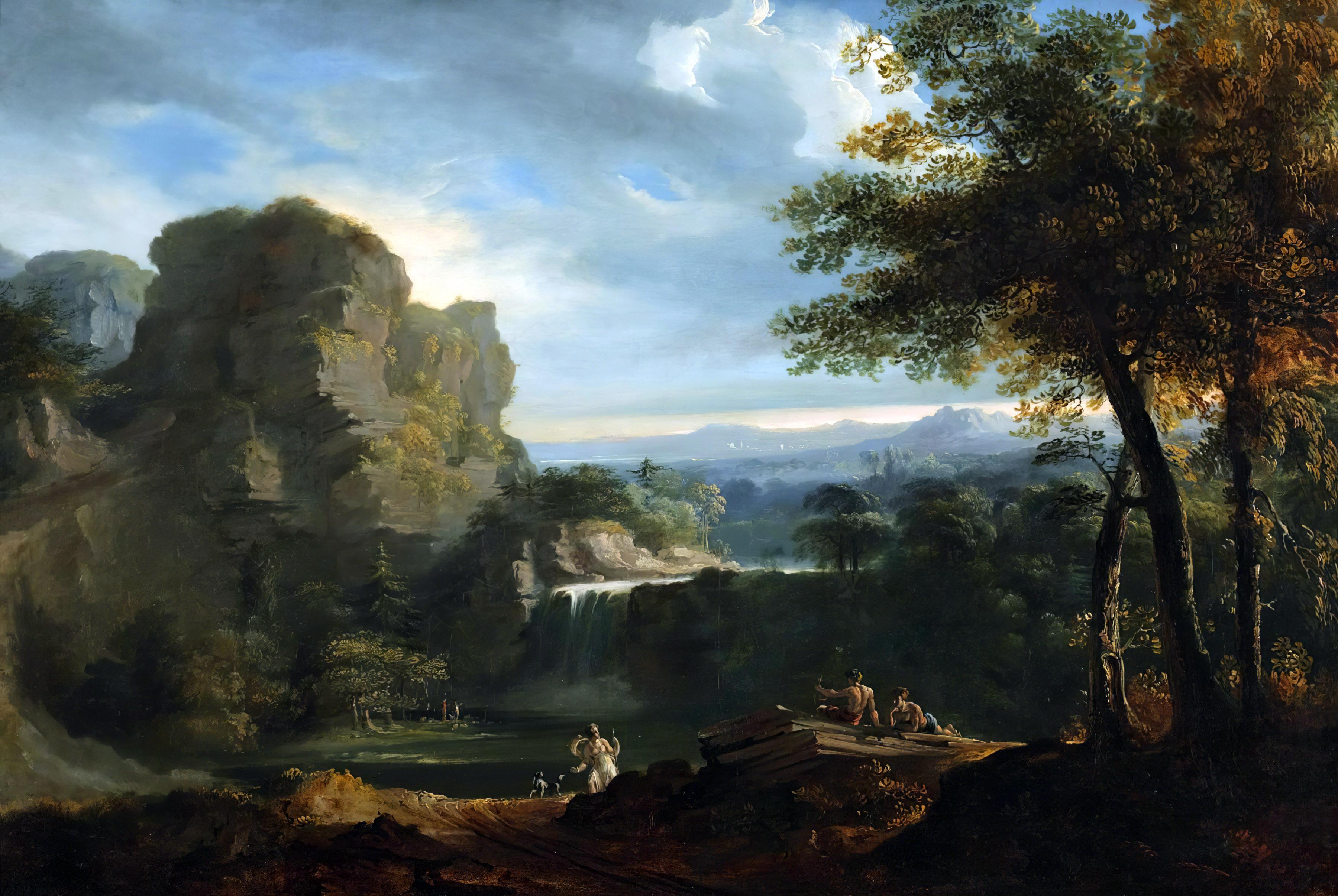 General 3600x2412 John Martin classic art painting classical art Arcadian Landscape artwork nature