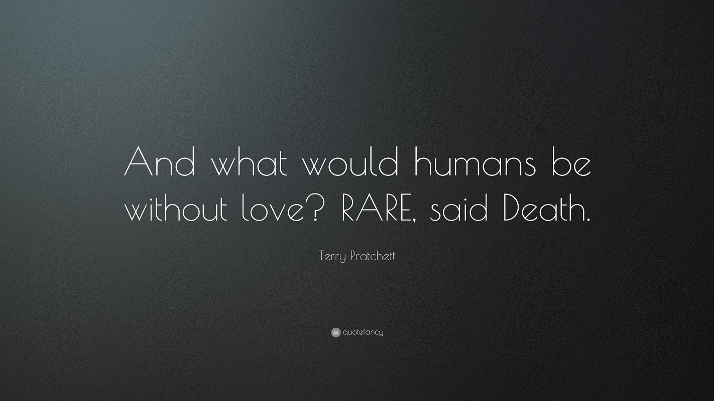 General 1422x800 Terry Pratchett quote Book quotes quotefancy love death