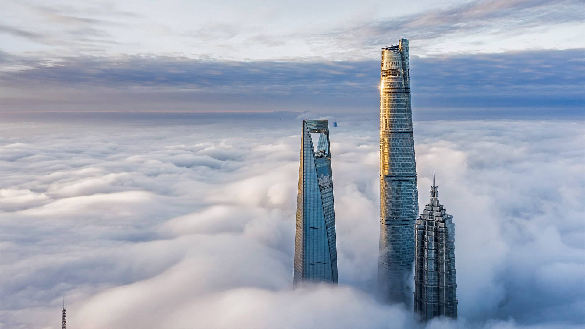 General 1920x1080 Bing photography nature Shanghai clouds