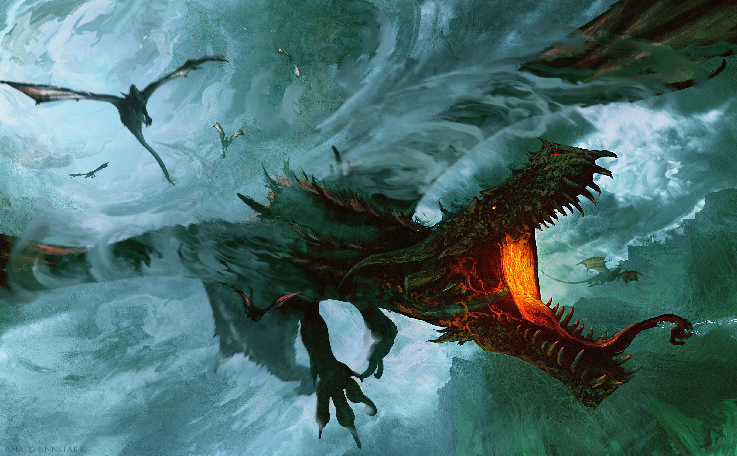 General 2427x1500 artwork ArtStation dragon fantasy art creature Anato Finnstark