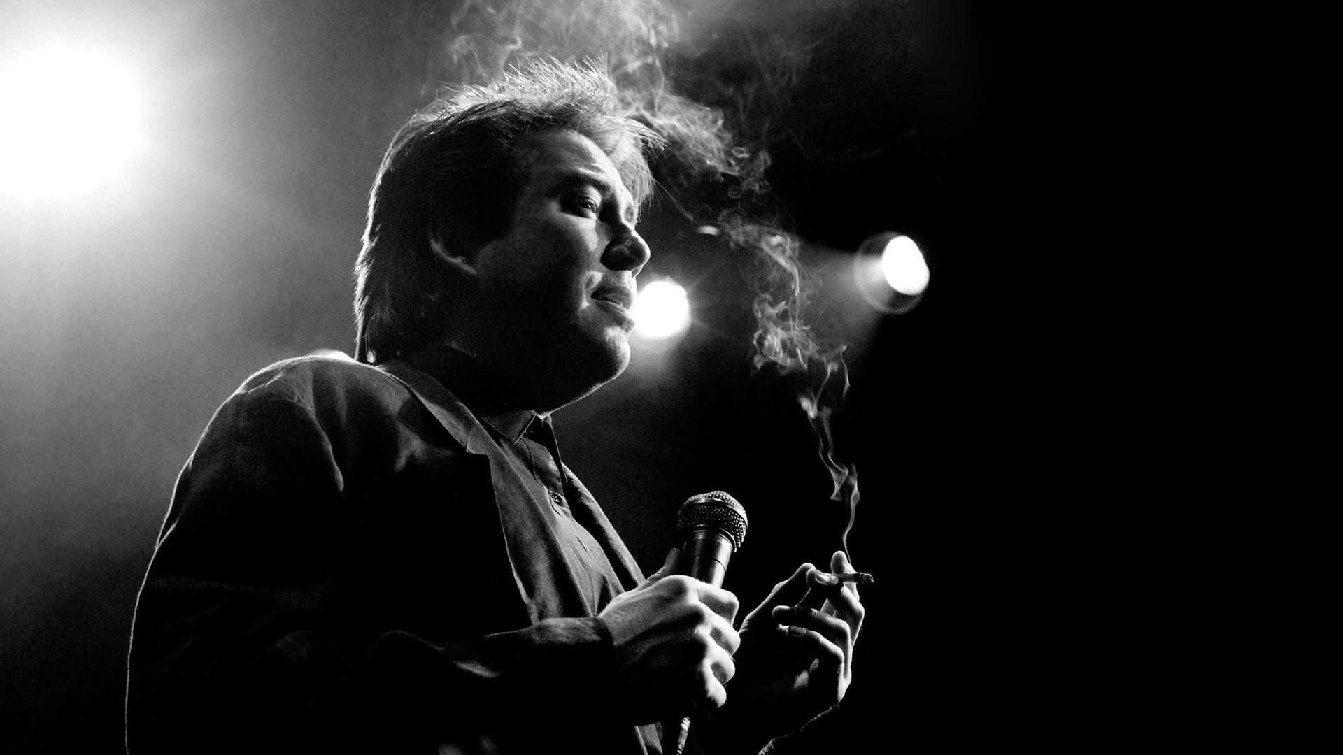 People 1920x1080 microphone monochrome men smoking Bill Hicks Comedian