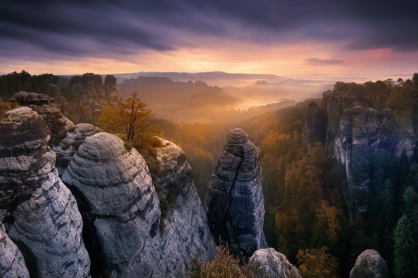 General 1427x950 photography rocks trees landscape forest national park sky mountains Saxon Switzerland
