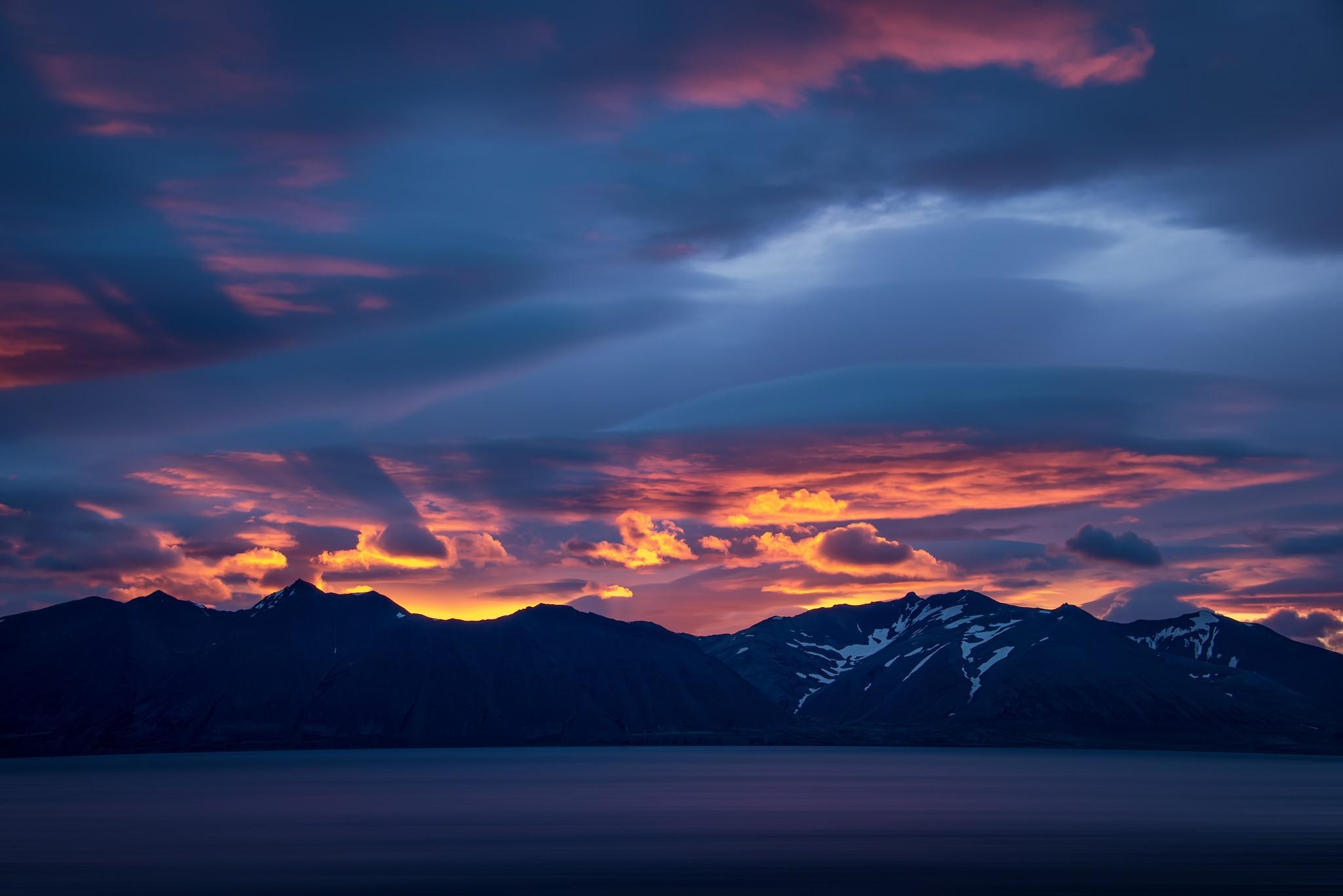 General 2048x1367 landscape lake clouds mountains sunrise