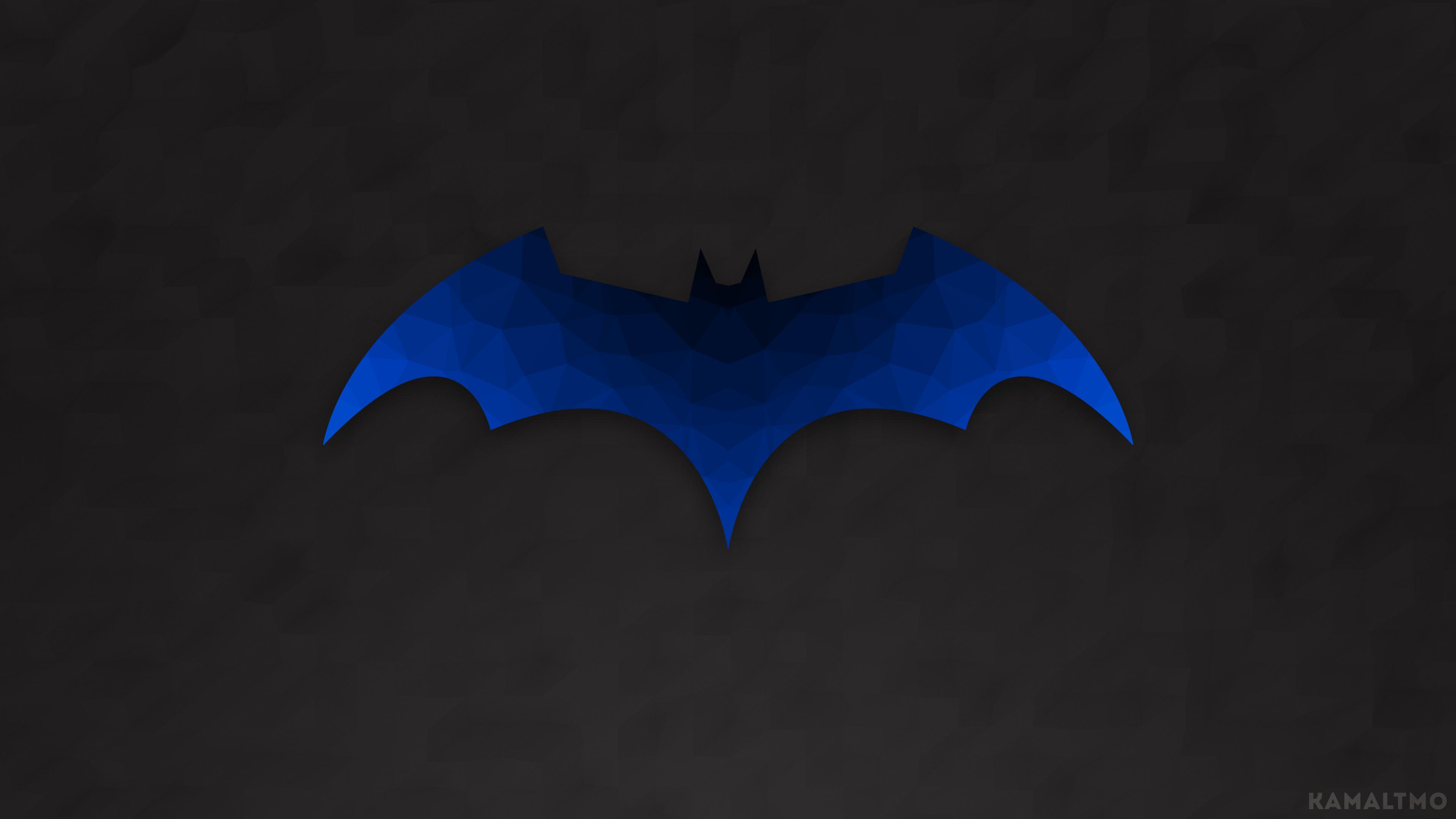 General 3840x2160 Batman Batman logo logo poly polygon art low poly vector
