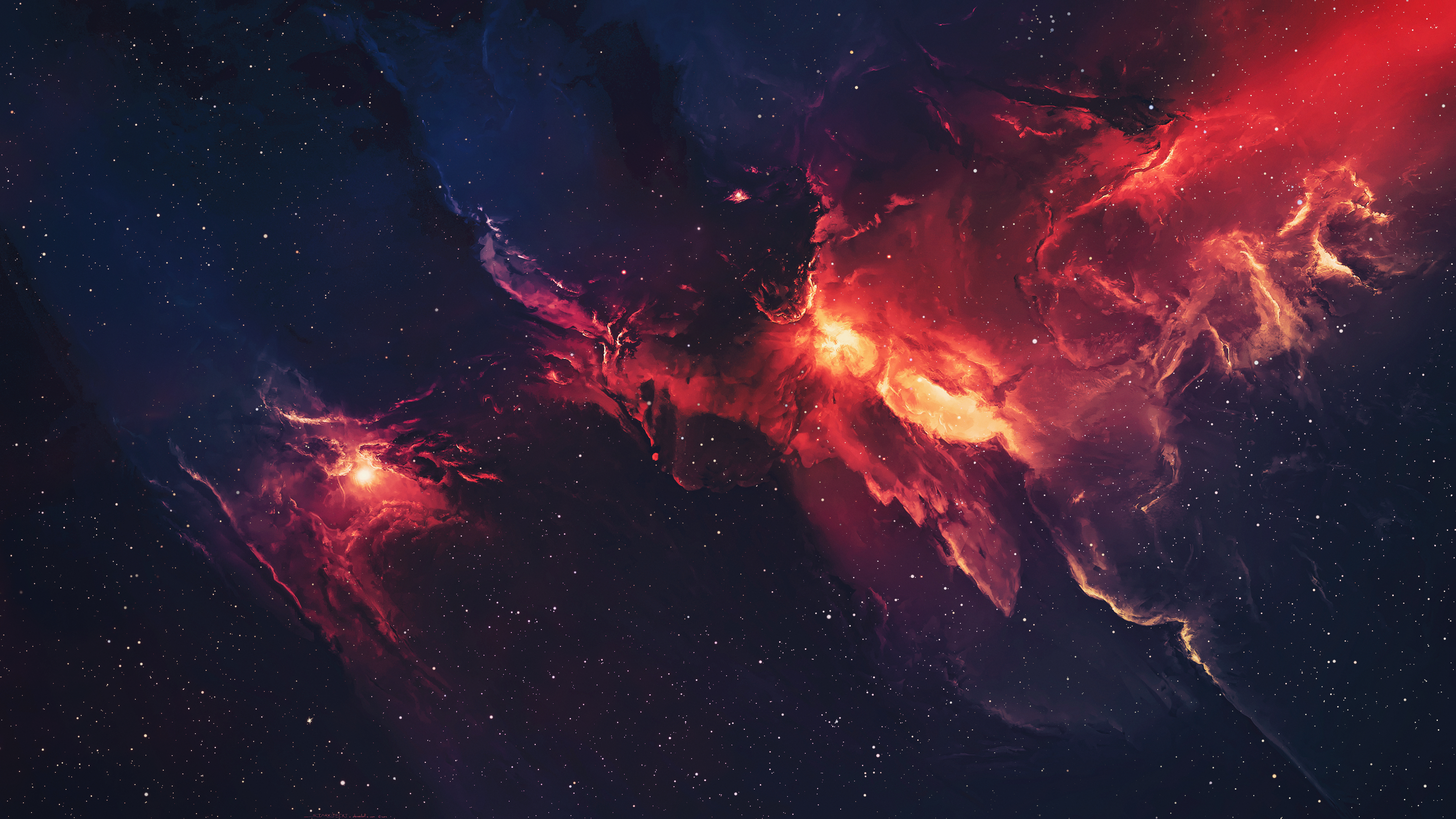 General 3840x2160 galaxy space stars universe spacescapes nebula red