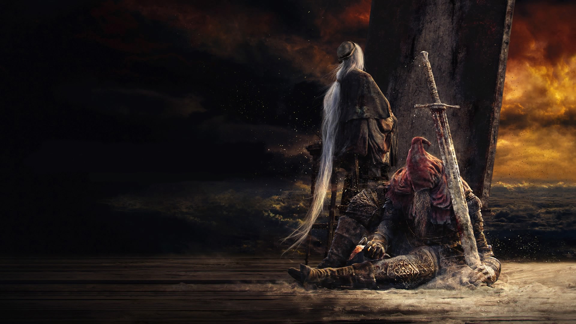 General 1920x1080 Dark Souls III Slave Knight Gael Dark Souls video games