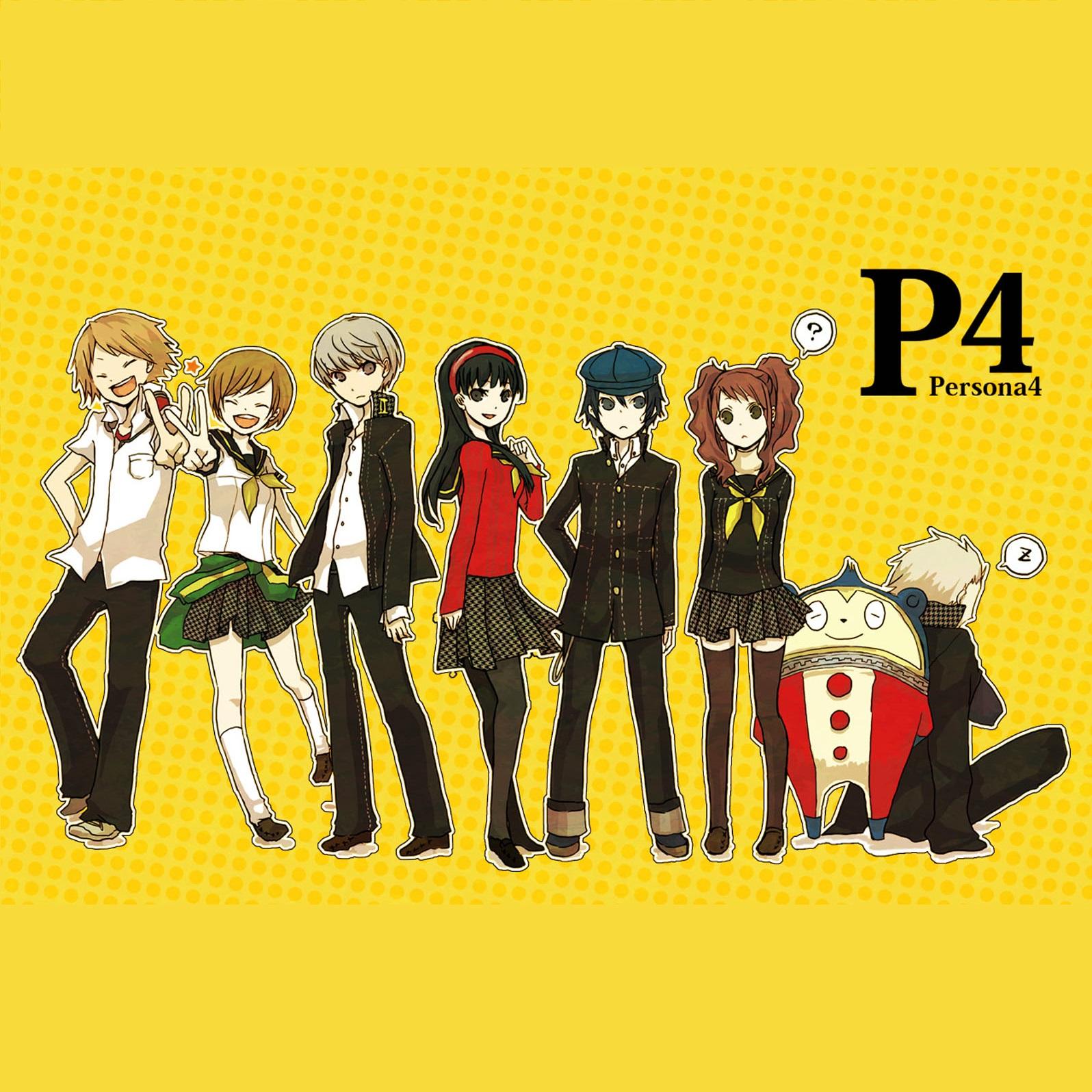 Anime 1596x1596 Persona 4 Golden Persona 4 Hanamura Yosuke Kanji Tatsumi Kuma Persona 4 Shirogane Naoto anime Satonaka Chie Amagi Yukiko Kujikawa Rise