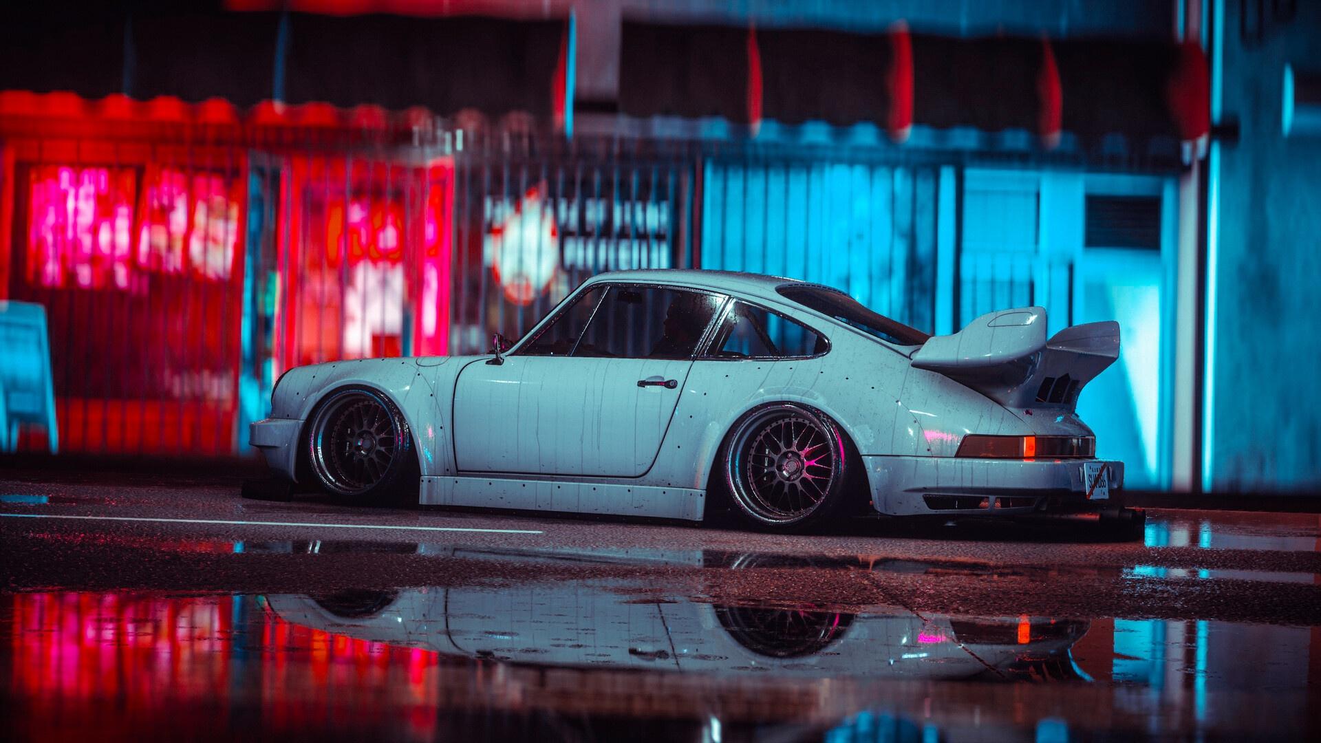 General 1920x1080 car vehicle Porsche 911 render digital art Porsche