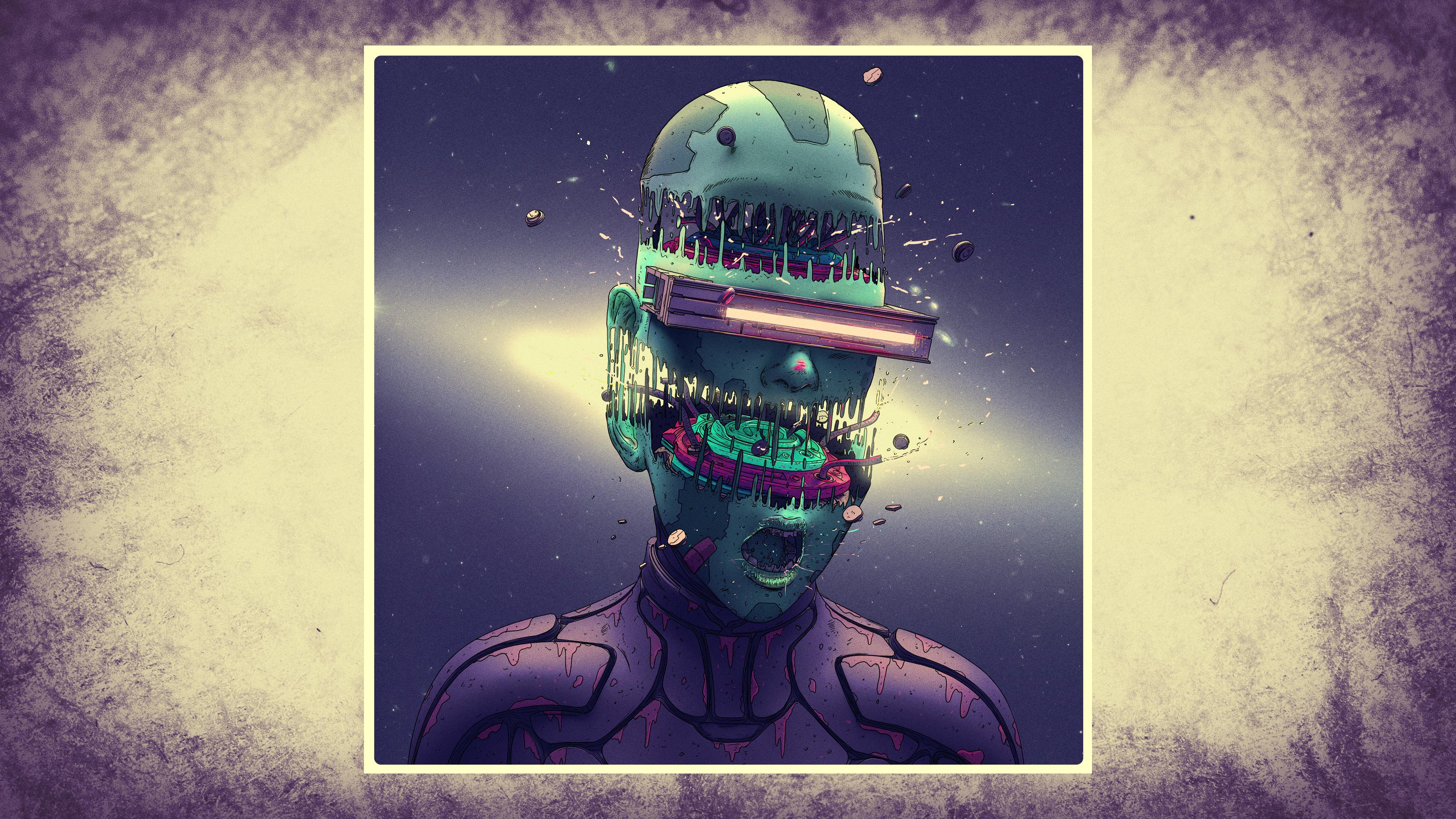 General 3840x2160 futuristic science fiction digital art concept art artwork fantasy art fan art 3D CGI painting closeup realistic cyberpunk cyber