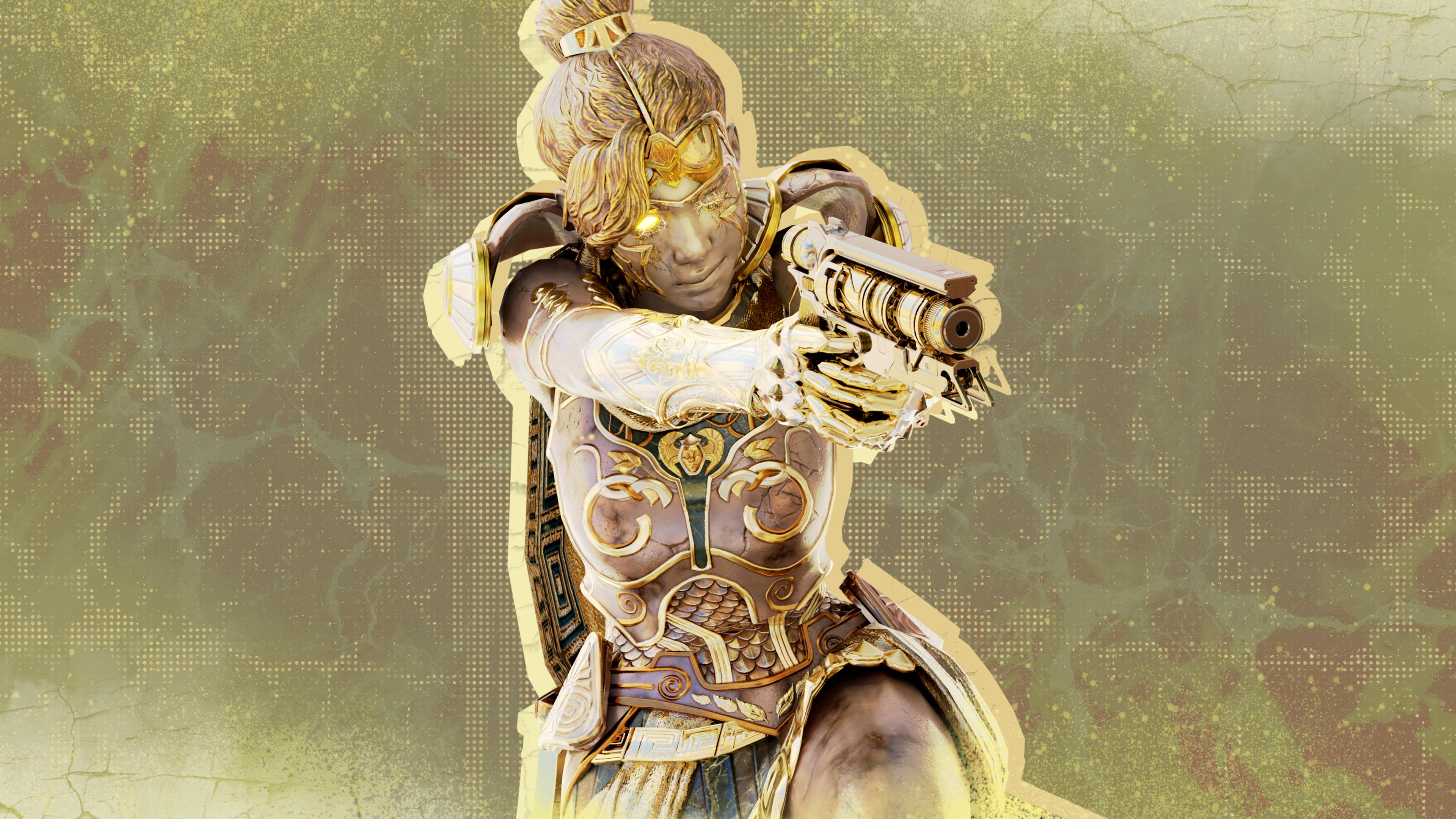 General 3840x2160 Wraith (Apex Legends) Apex Legends video game art video game characters video game girls Girl With Weapon 3D graphics Blender pistol