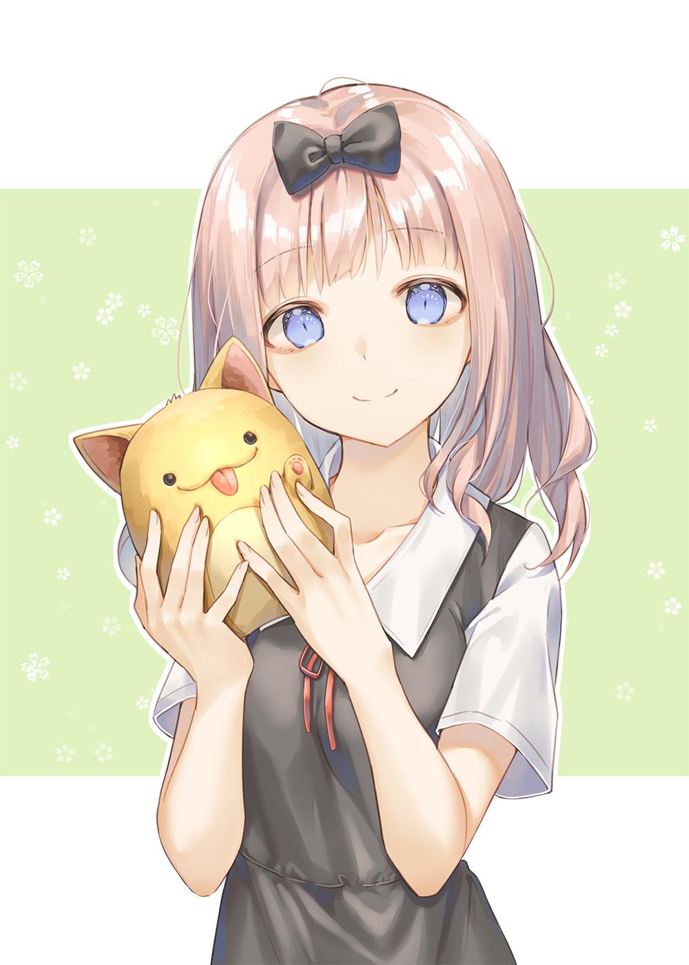 Anime 1000x1400 anime anime girls digital art artwork 2D portrait display vertical Kaguya-Sama: Love is War Chika Fujiwara Cha Chya school uniform
